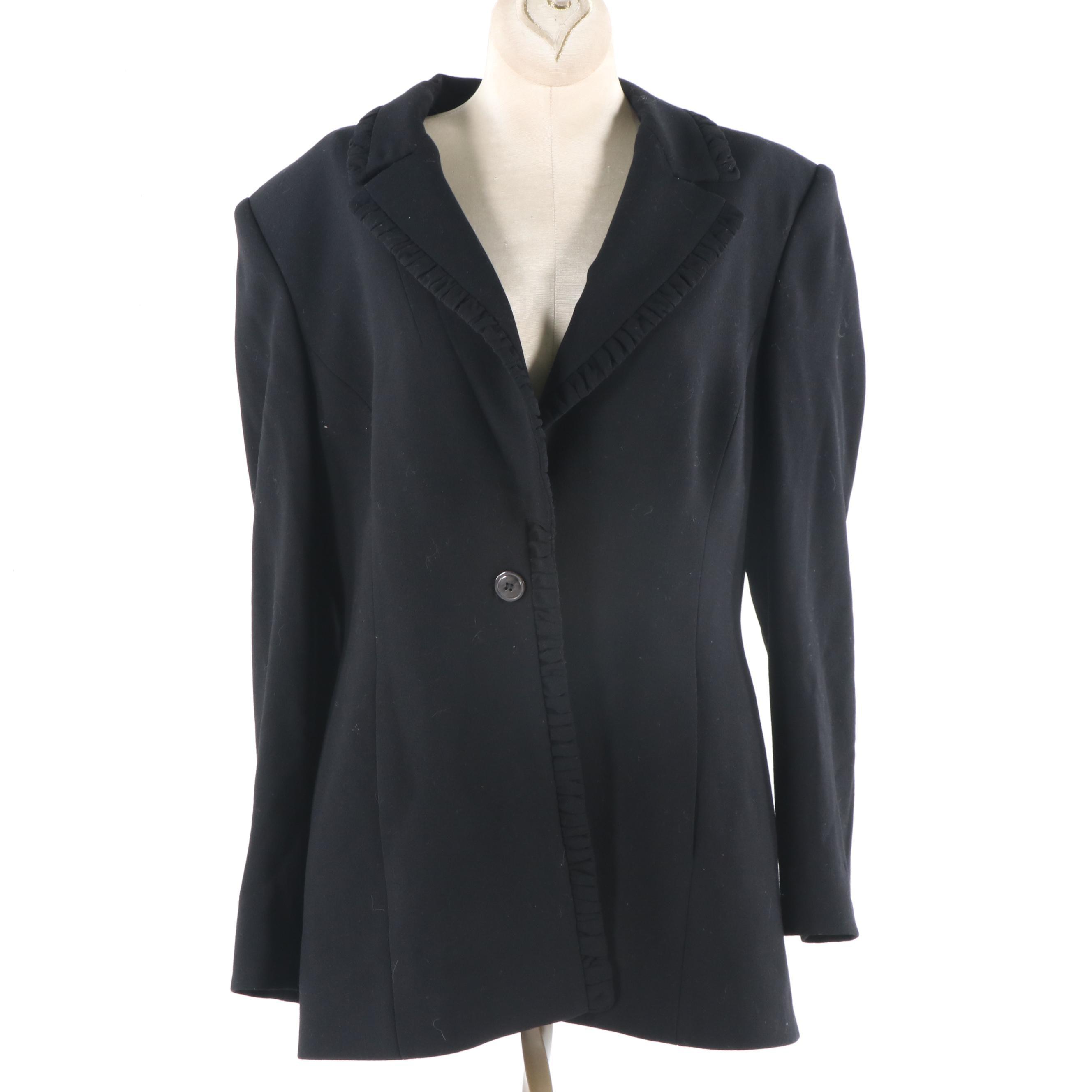 Féraud Black Wool Blazer, Made in Germany
