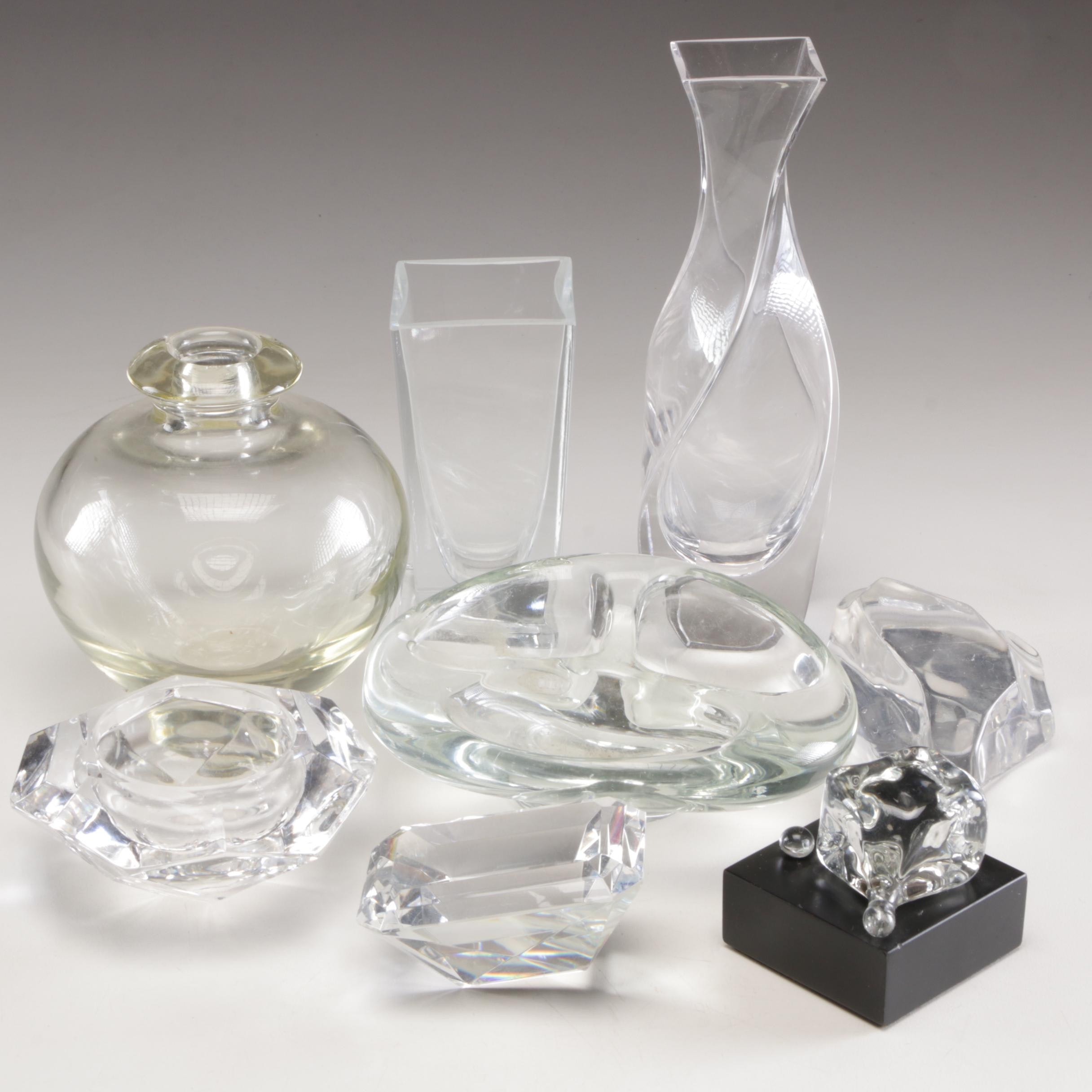 Glass Vases, Bowls, and Decor