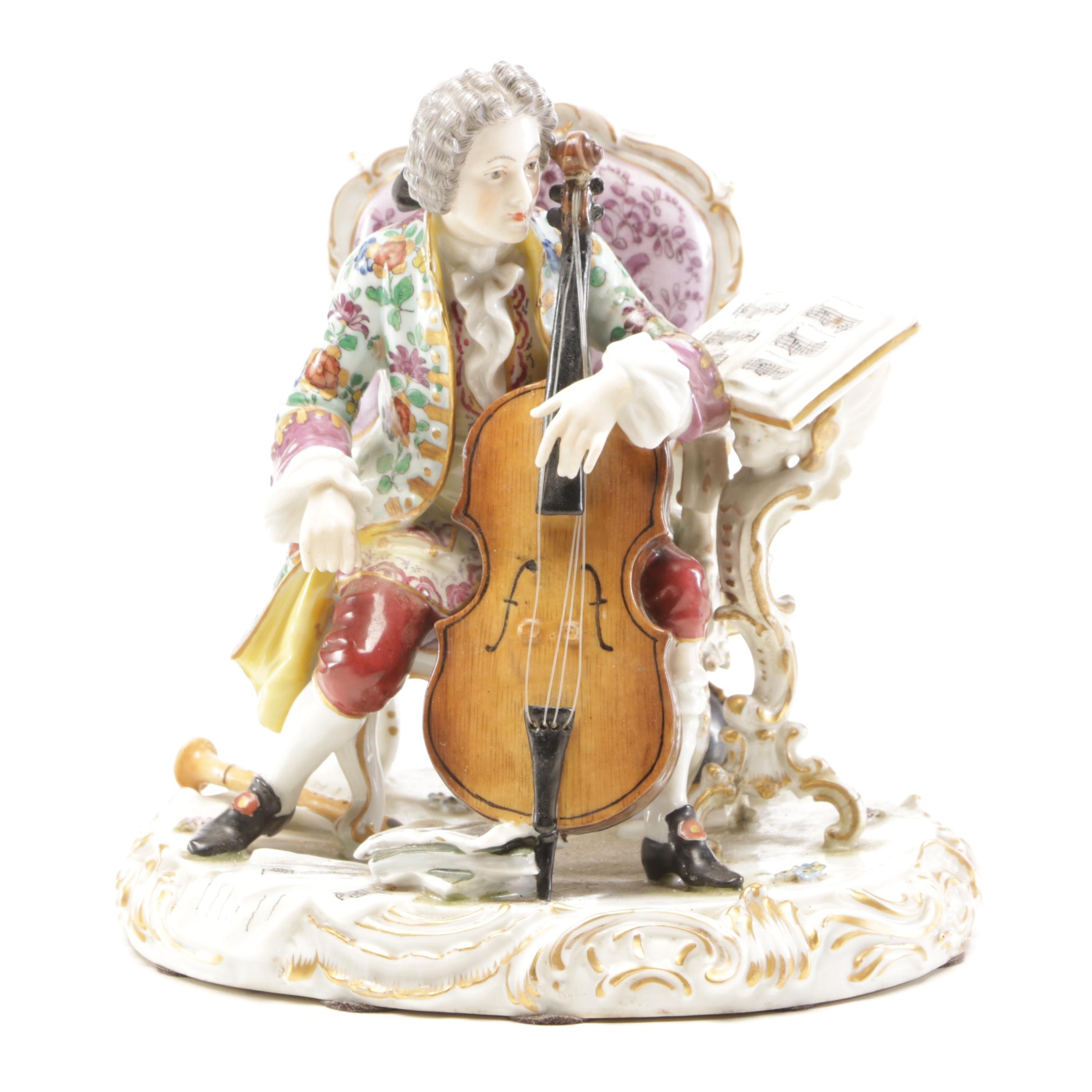 Reproduction Samson of Paris Sèvres Style Porcelain Figurine, 20th Century