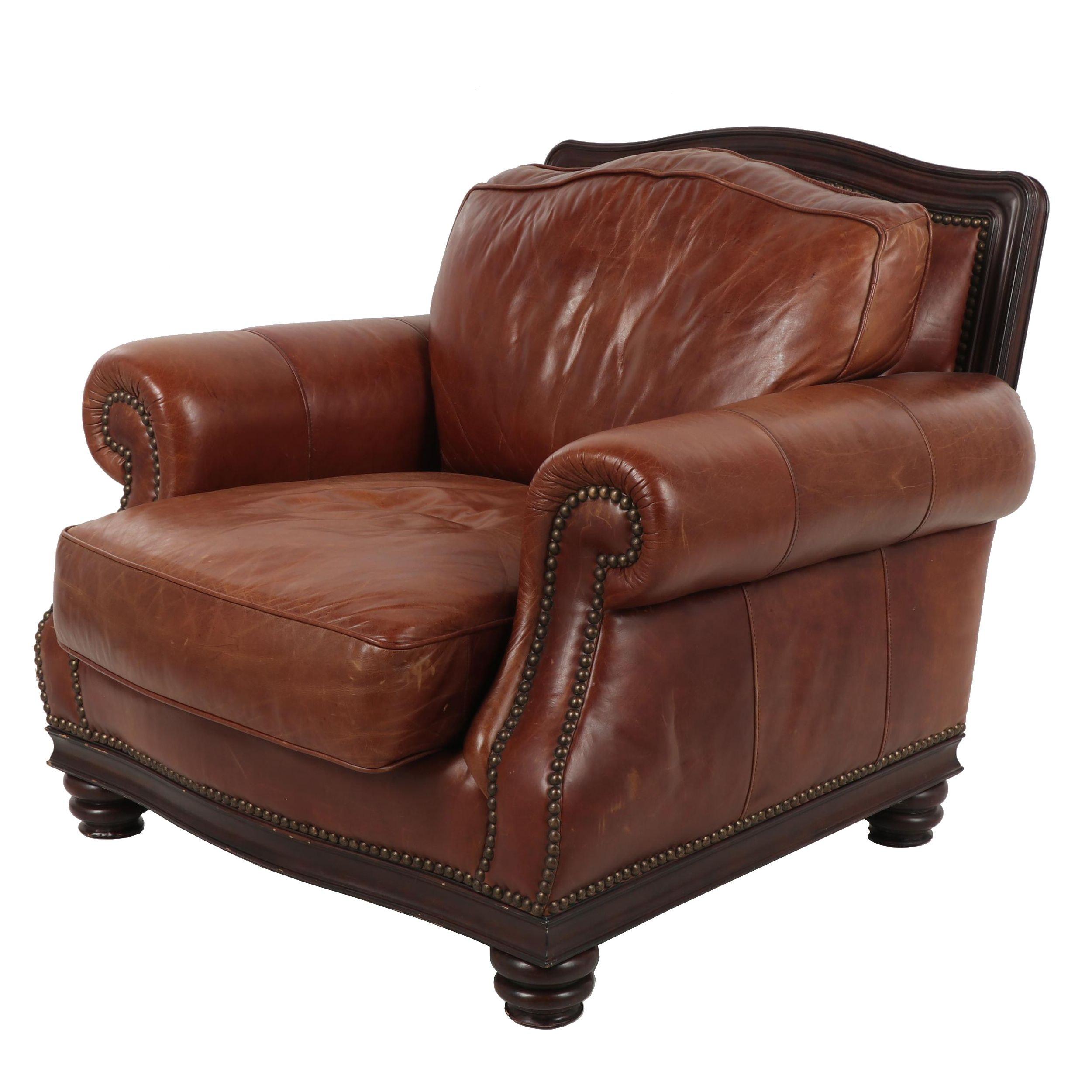 Henredon Leather Armchair
