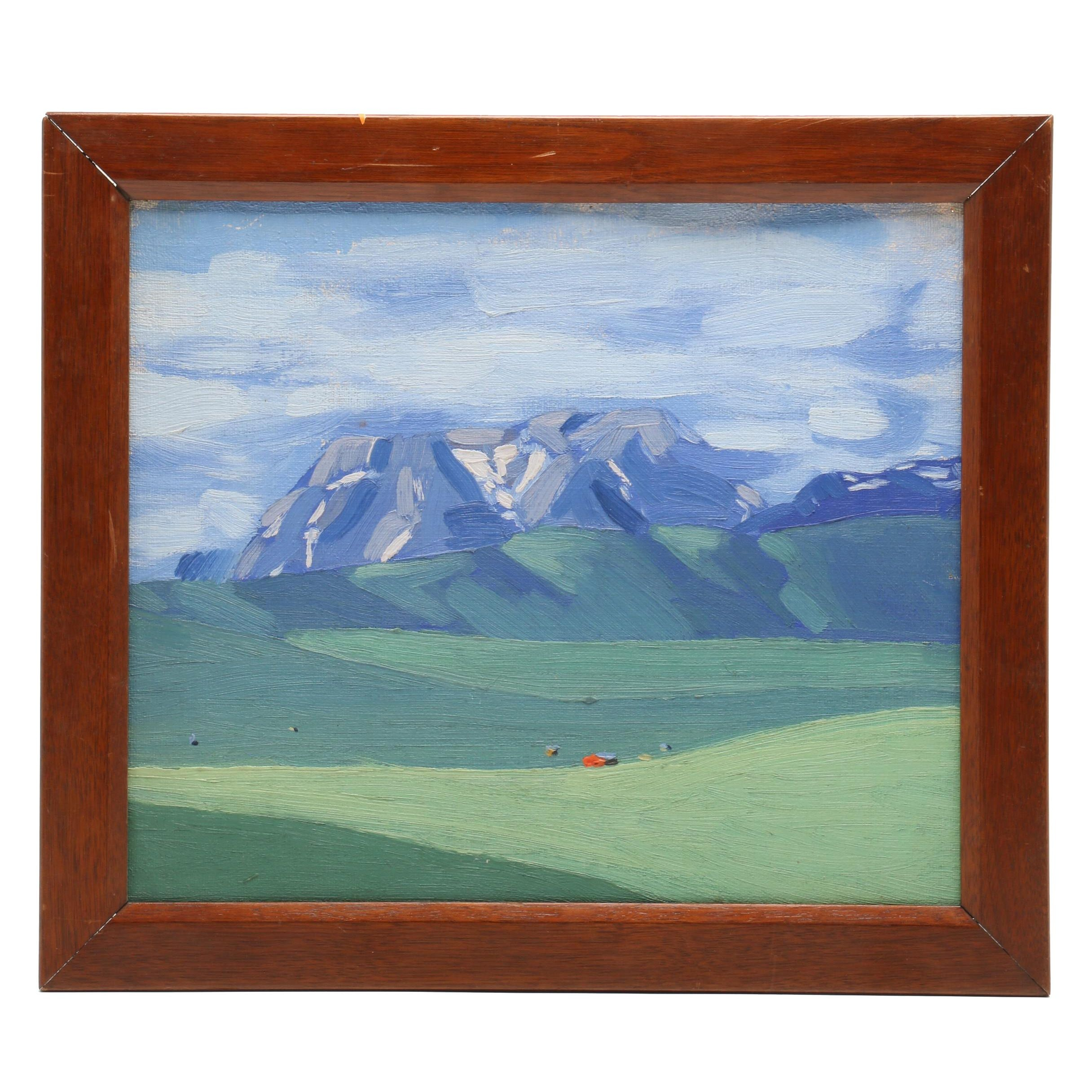 "Attributed to W. Langdon Kihn Landscape Oil Painting ""Alaska"""