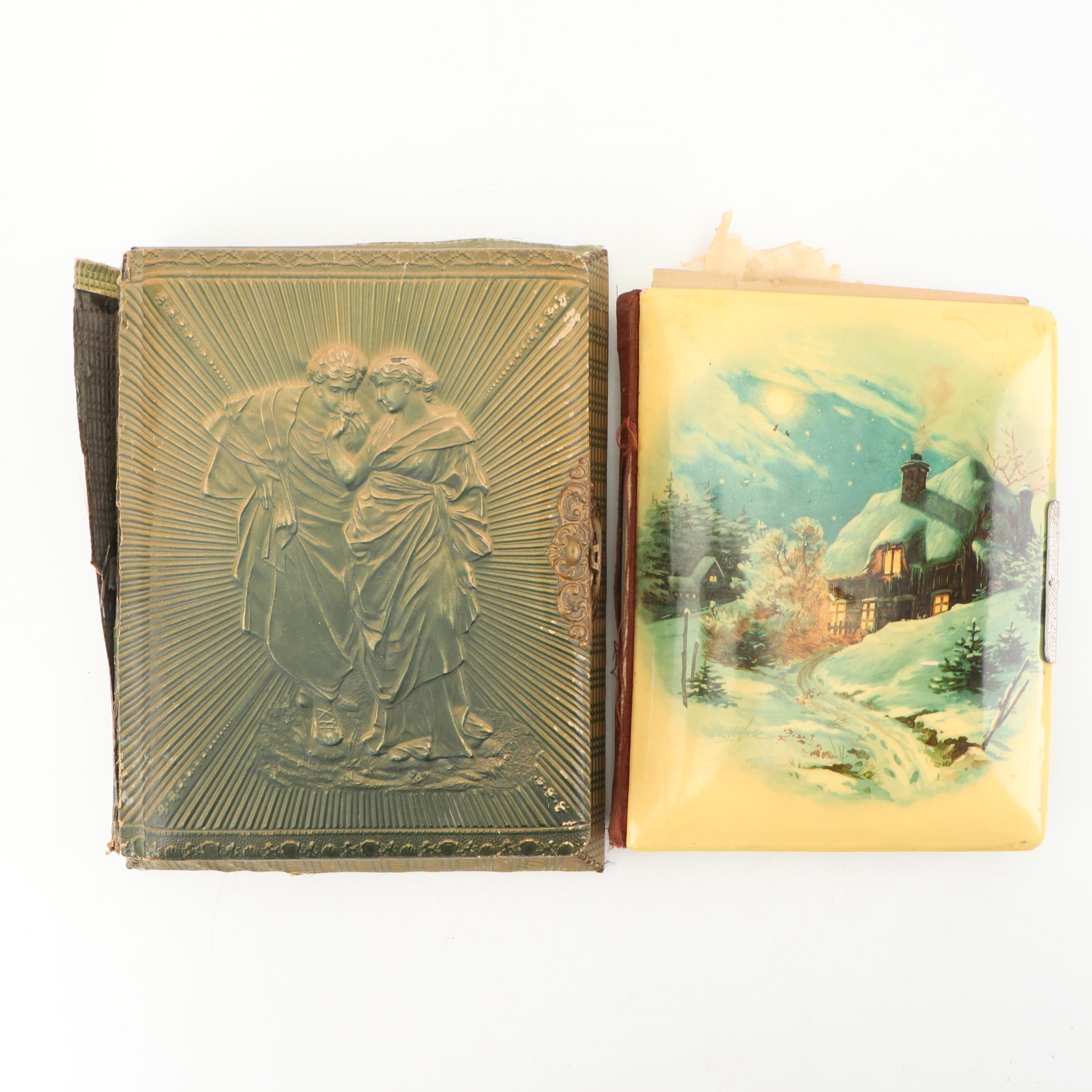 Victorian Photo Albums, One Featuring a Music Box Within