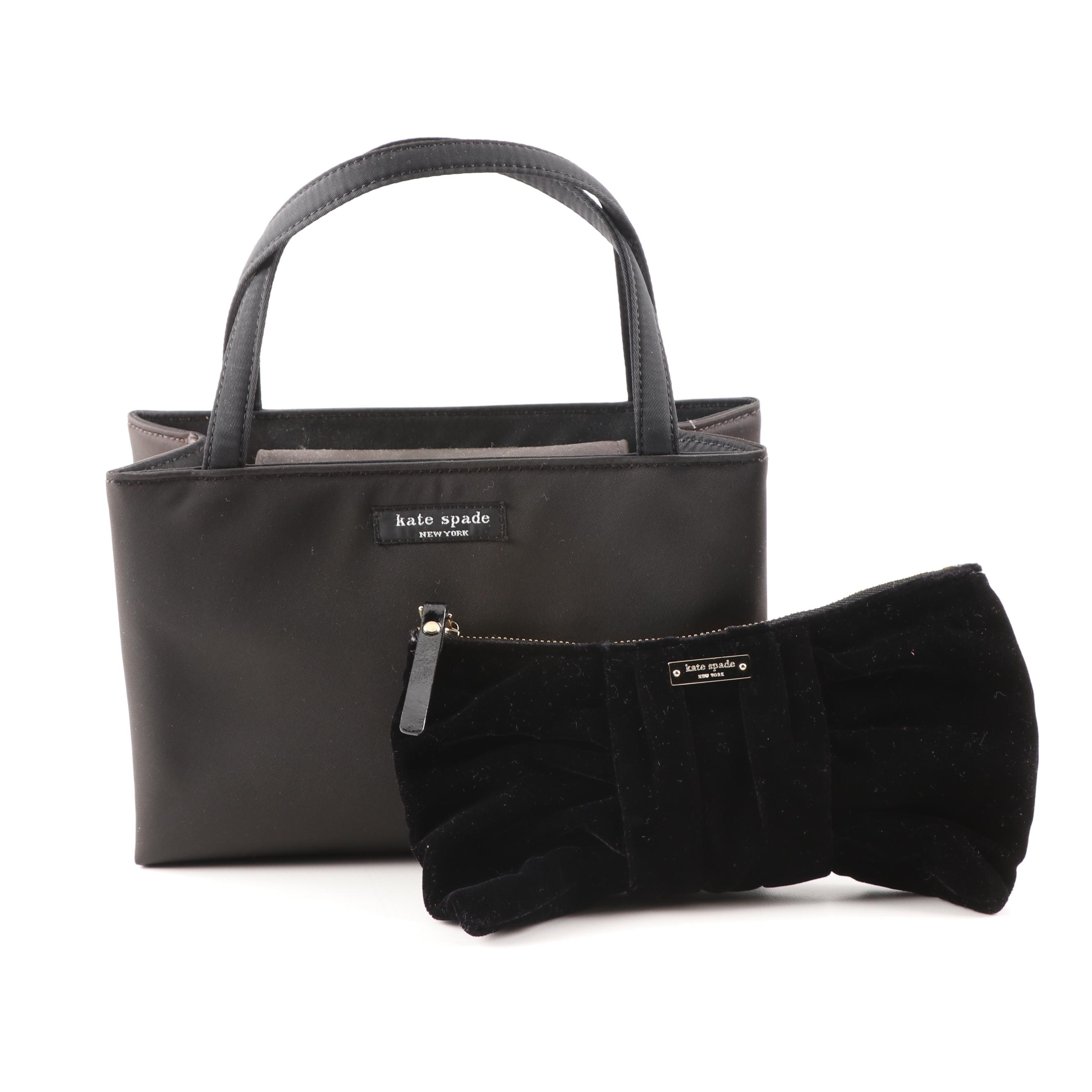 Kate Spade New York Tote and Black Velvet Clutch