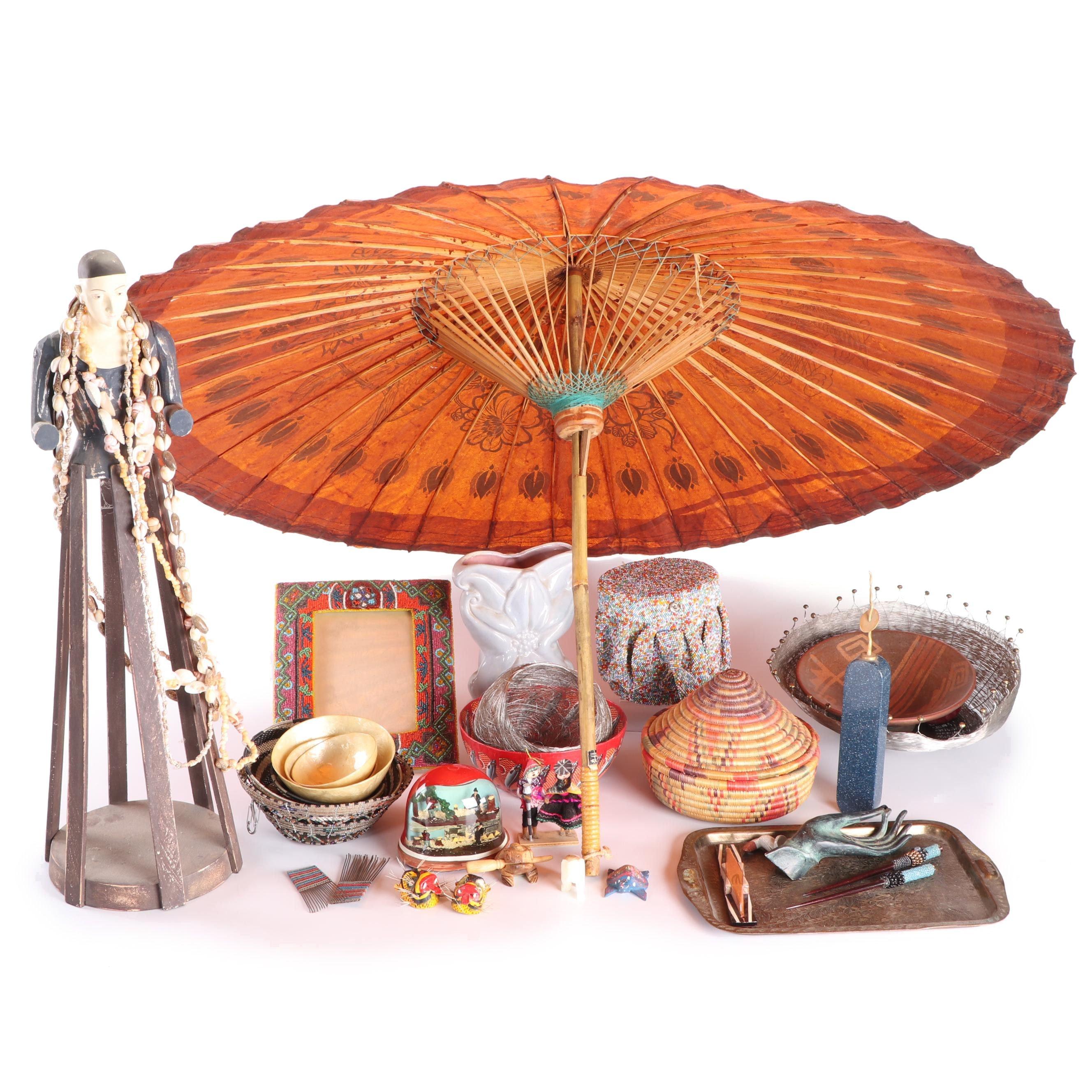 World Traveler Decor Including Gonder Vase