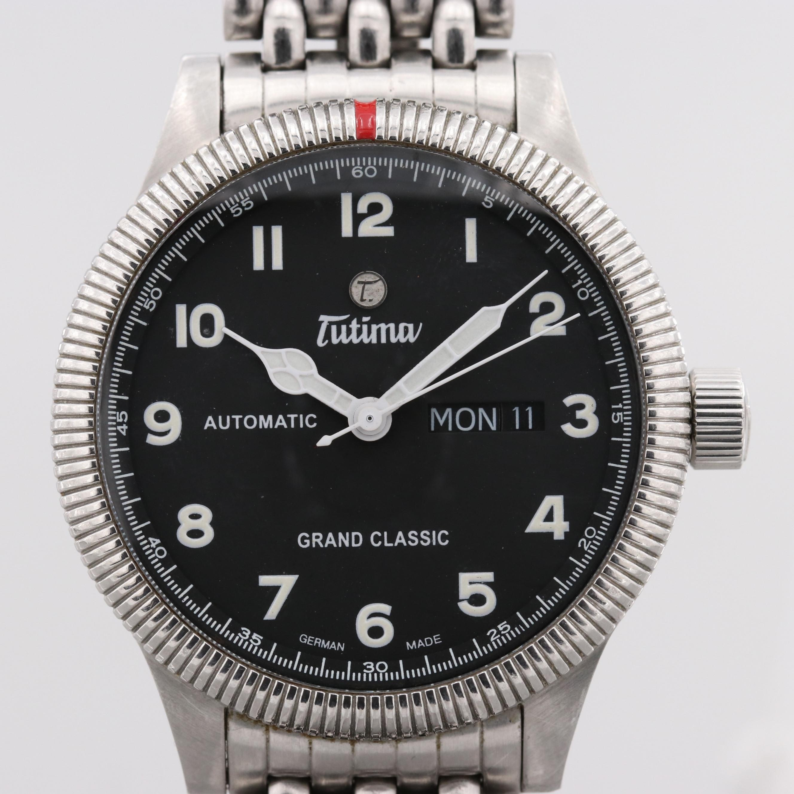 Tutima Grand Classic Stainless Steel Automatic Wristwatch
