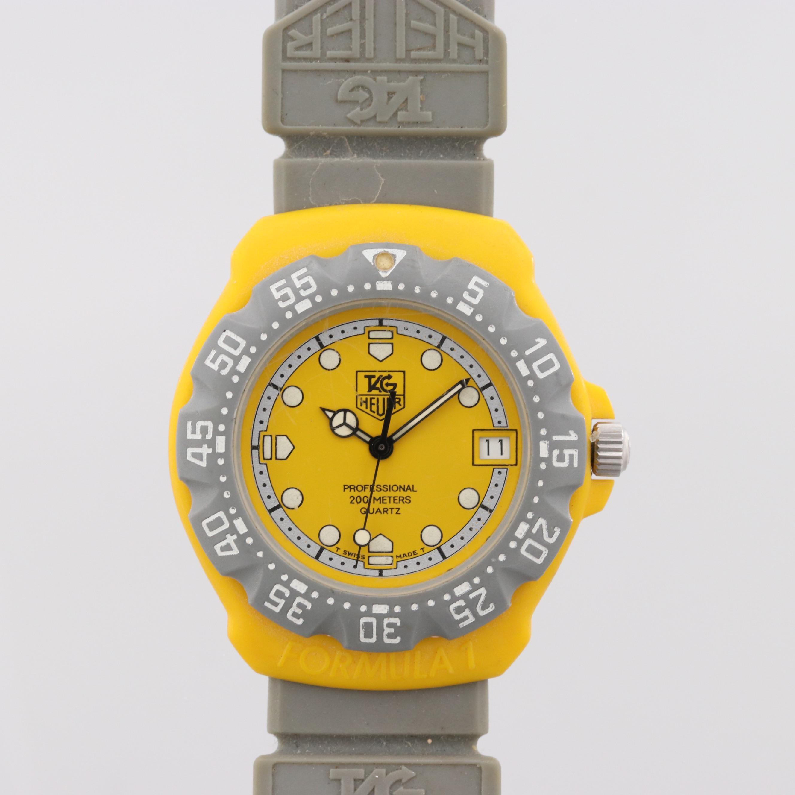 Vintage TAG Heuer Formula 1 Plastic and Stainless Steel Quartz Wristwatch