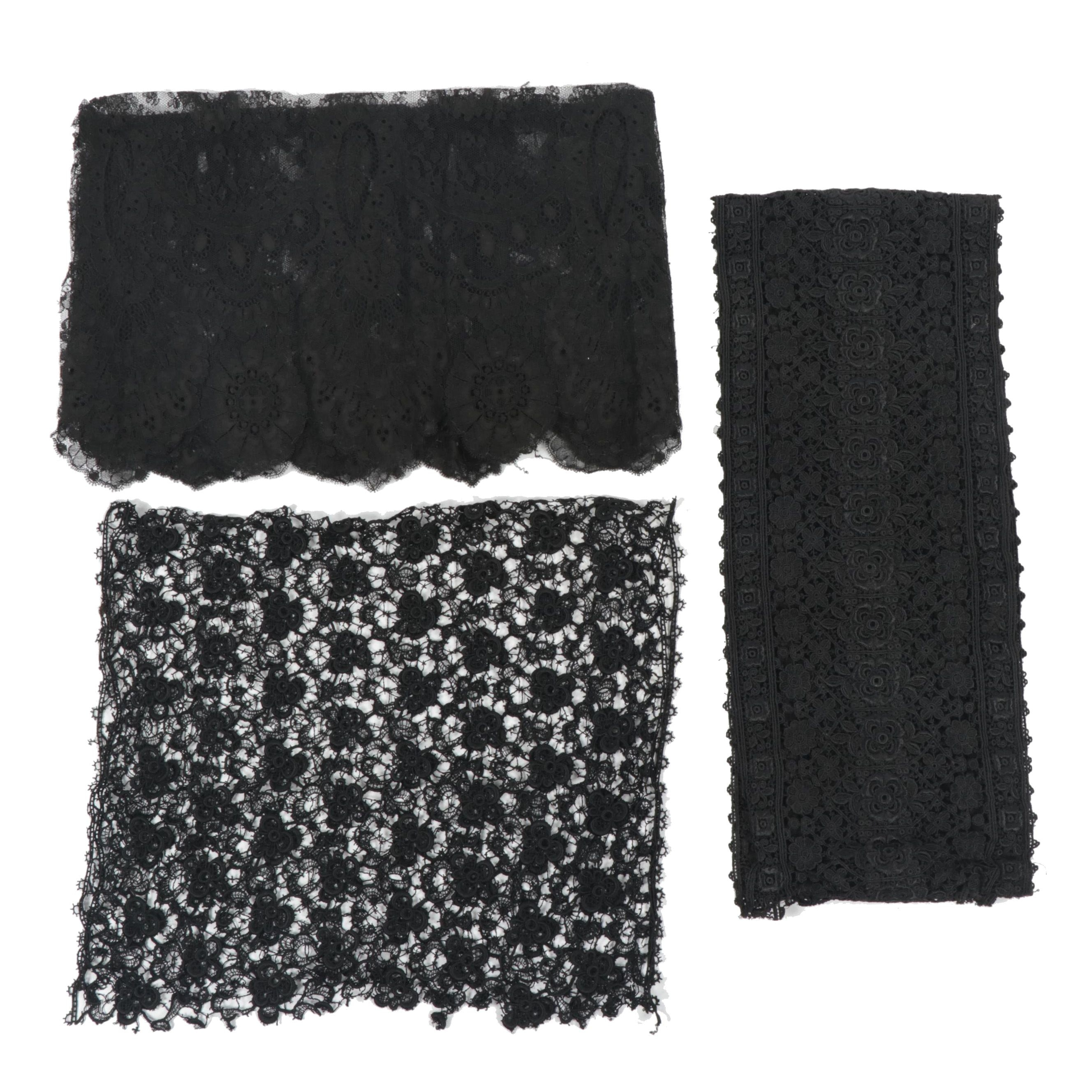 Lace Fabric Pieces, Early 20th Century