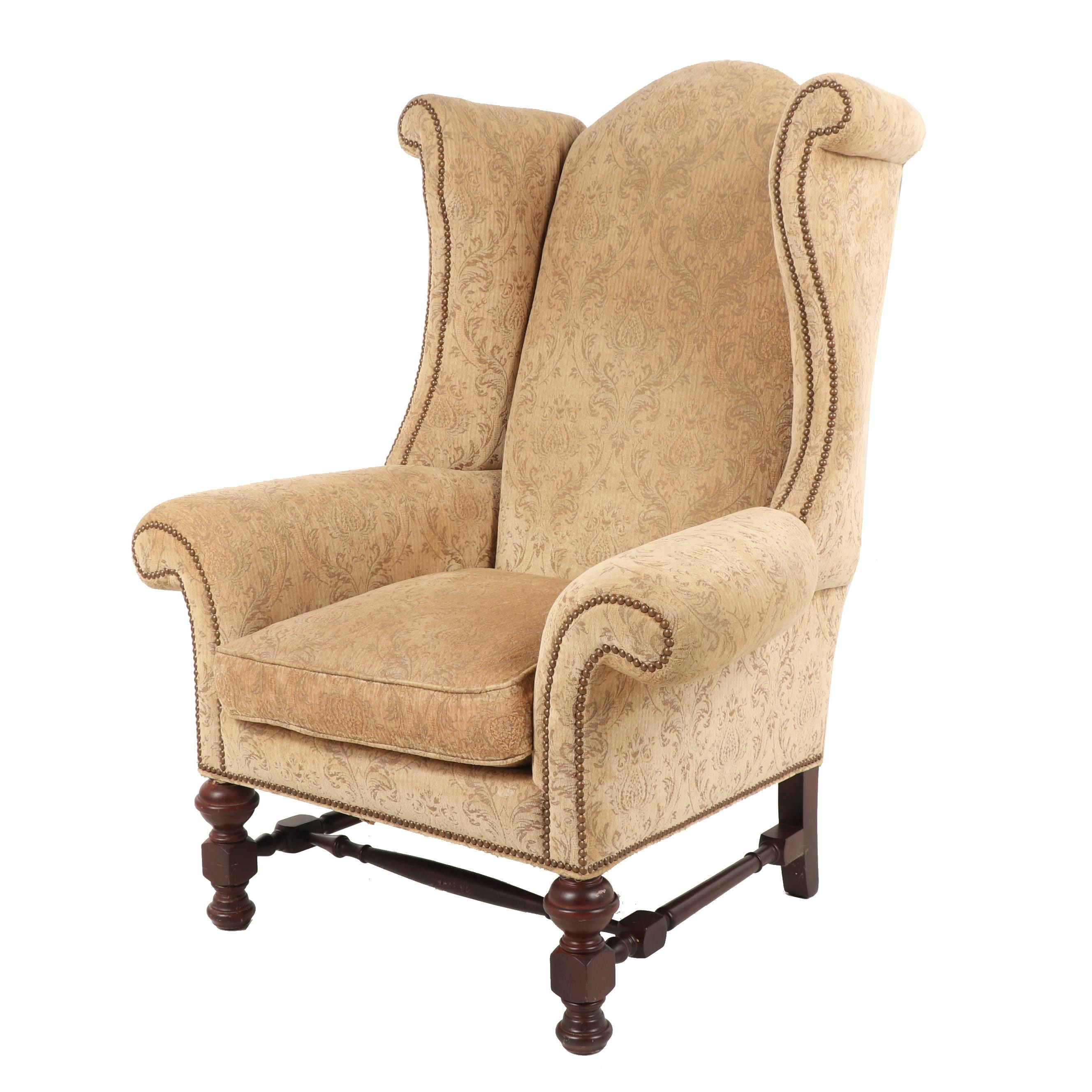 Sherrill Brocade Upholstered Armchair, Contemporary