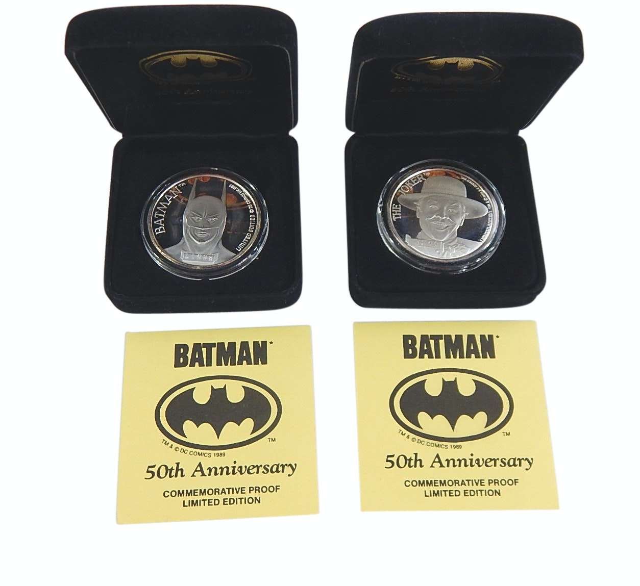 "1989 Batman ""50th Anniversary"" Limited Edition Silver Proof Rounds"