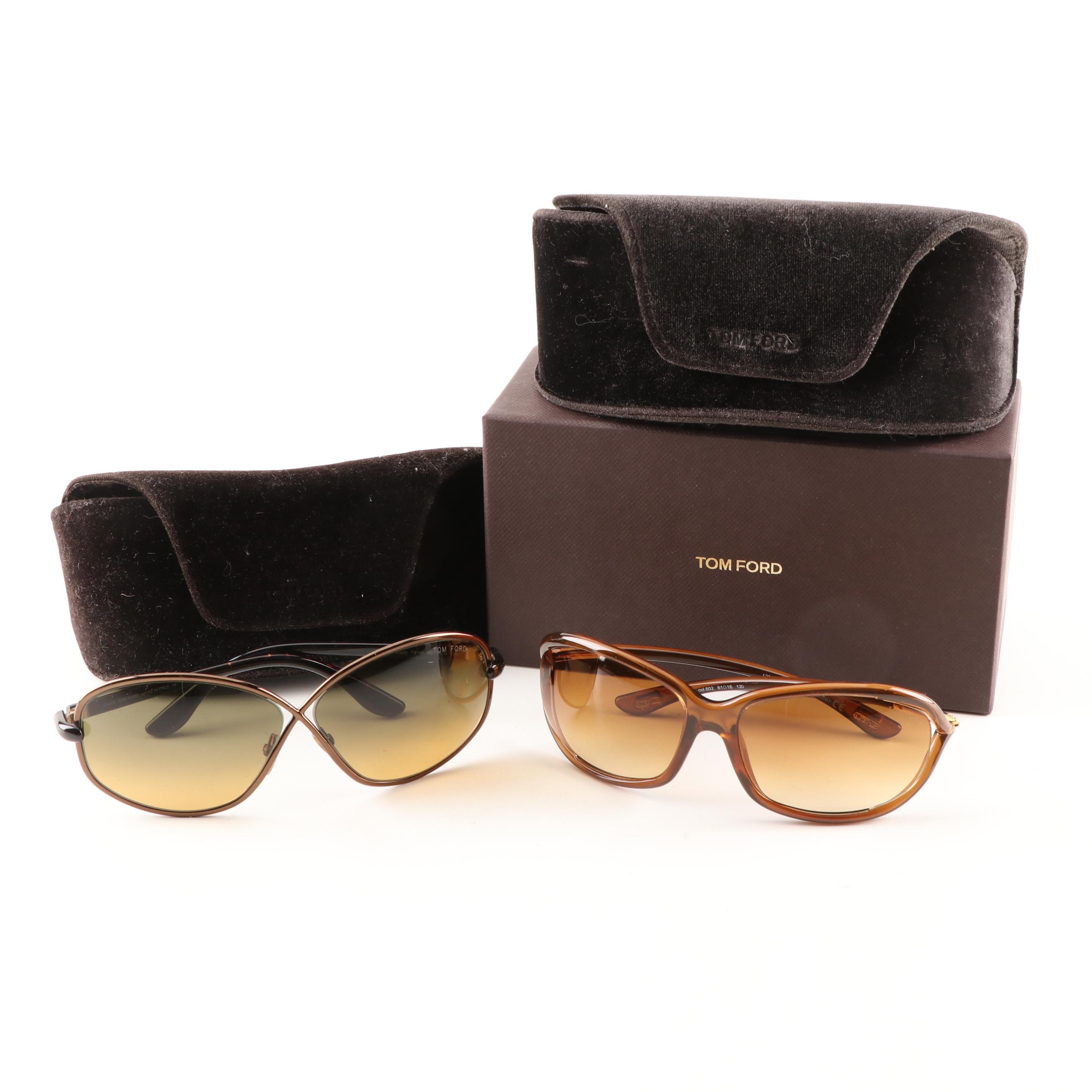 Tom Ford Brigitte TF160 and Jennifer TF8 Sunglasses Grouping