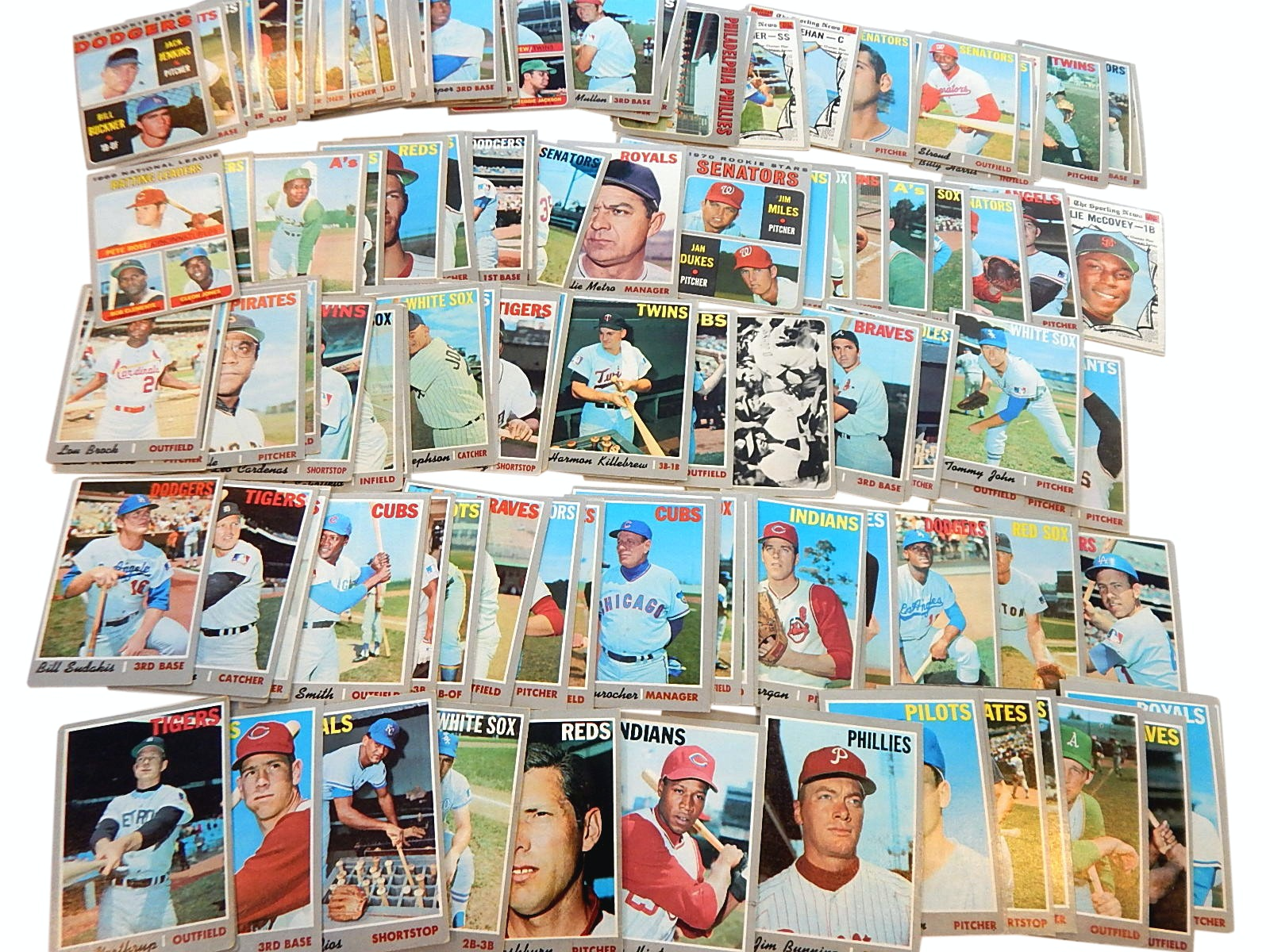 1970 Topps Baseball Card Collection with Killebrew, Rose, Brock and More