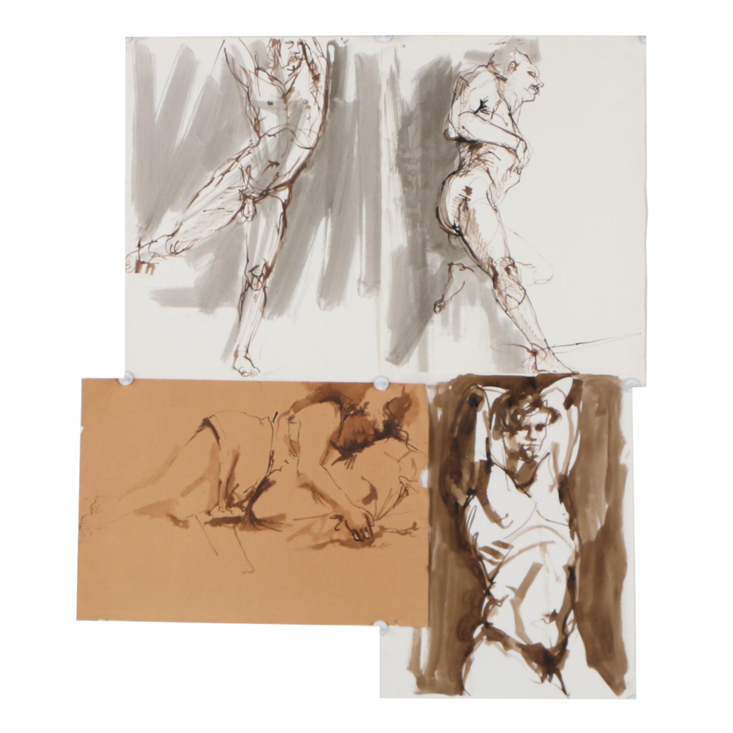 John Tuska Figural Ink Drawings