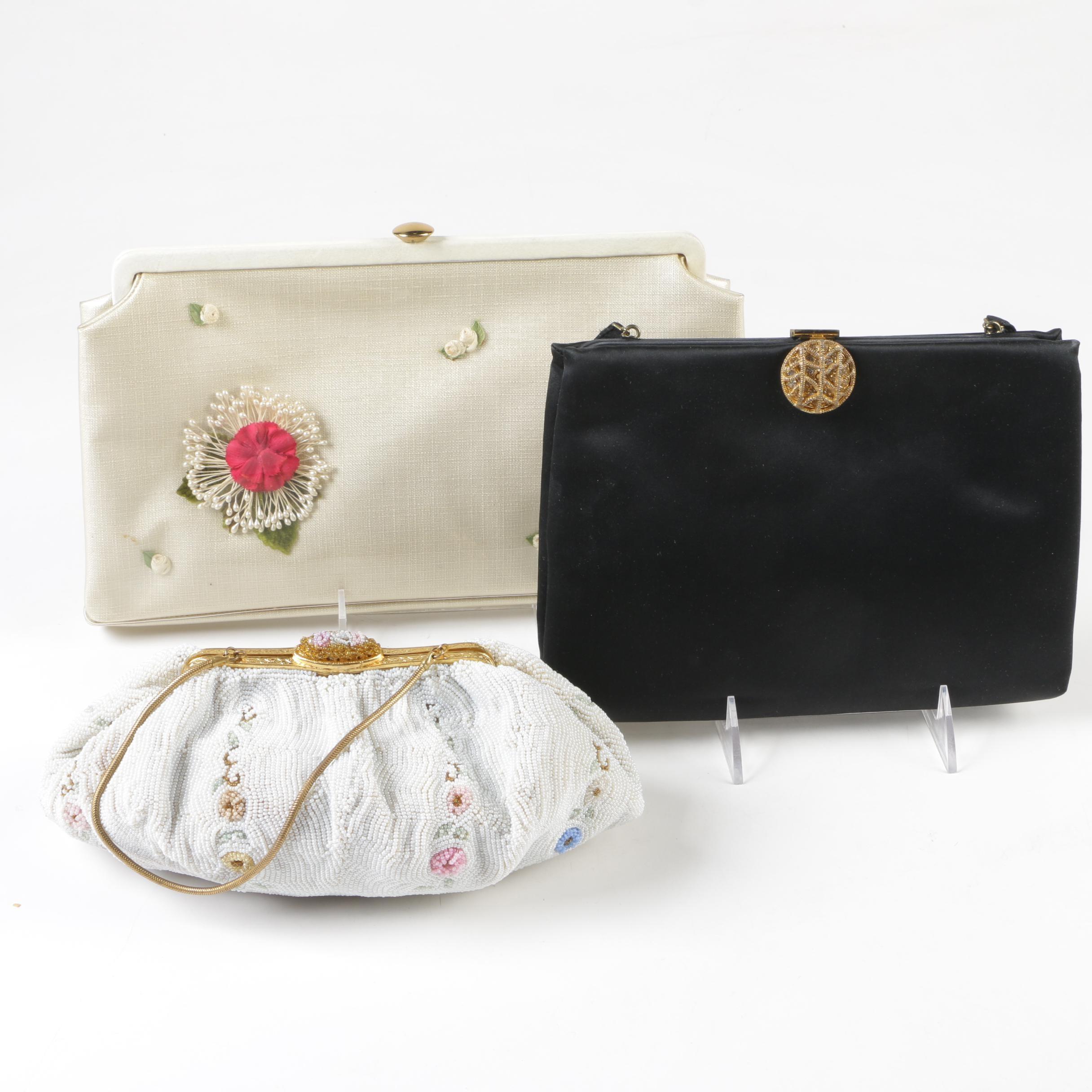 Rosenfeld Clutch, Black Silk Clutch, Coin Purses, and Beaded Handbag