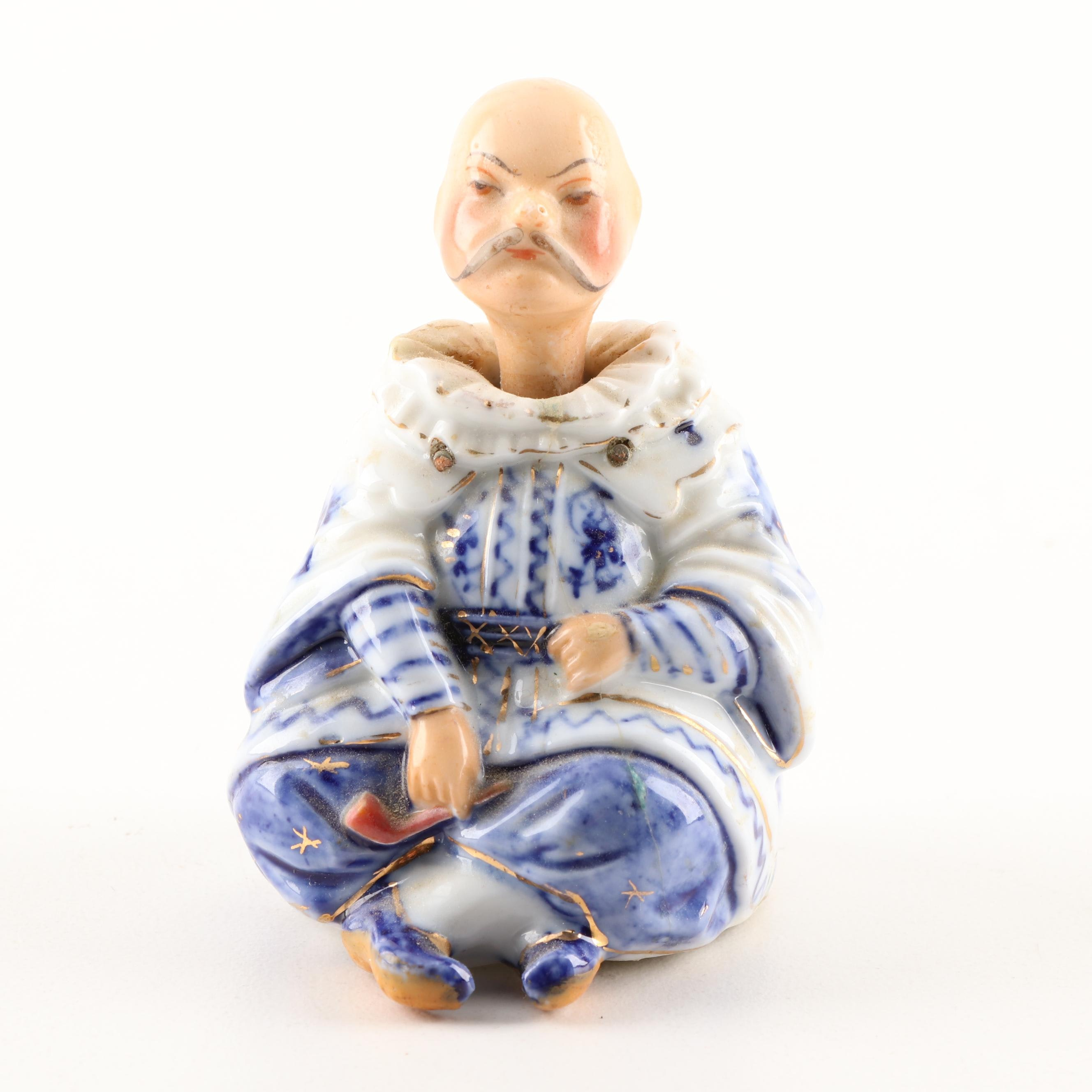 Chinese Inspired Porcelain Nodder Figurine