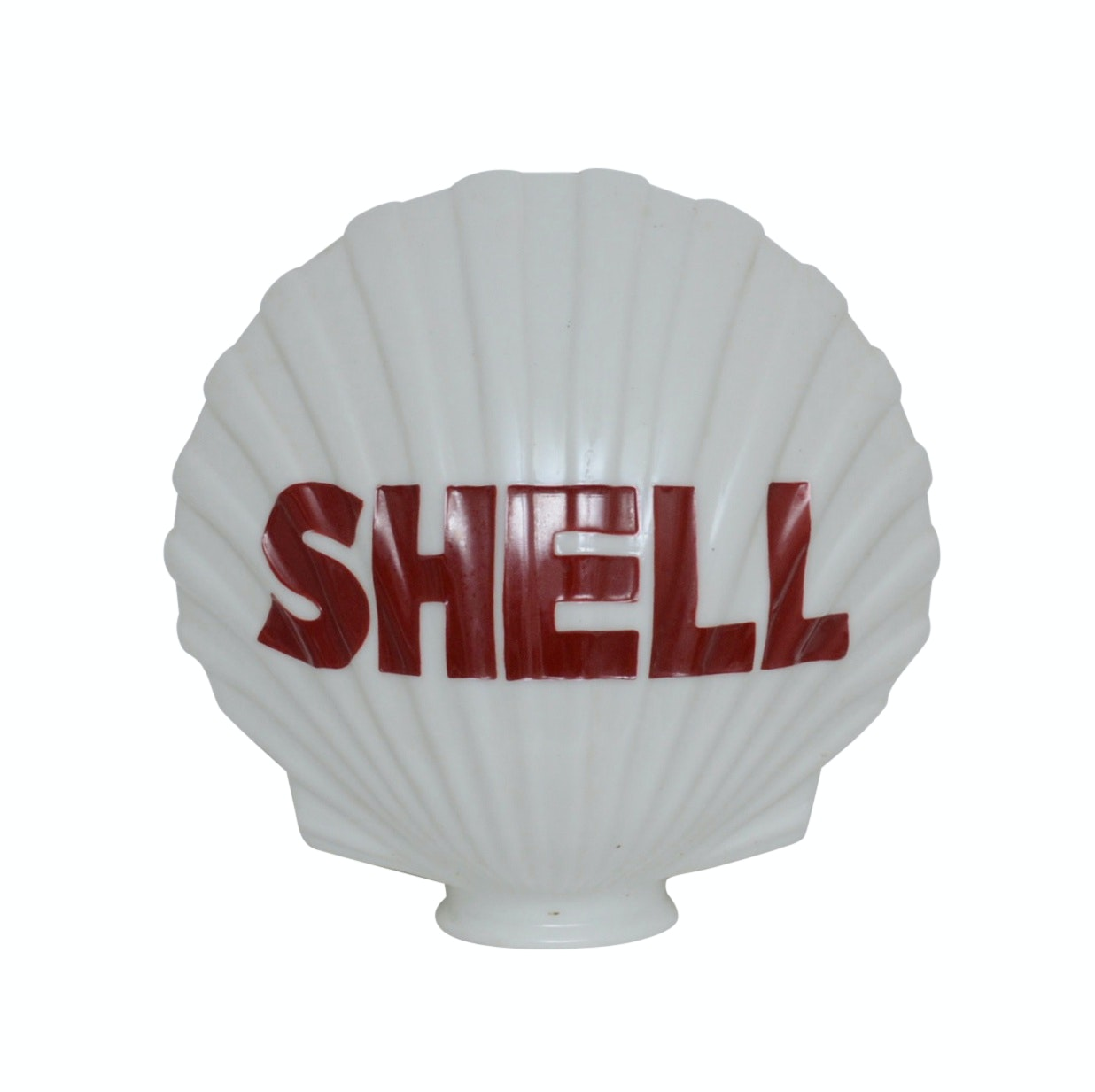 1922 Shell Gasoline Glass Sign