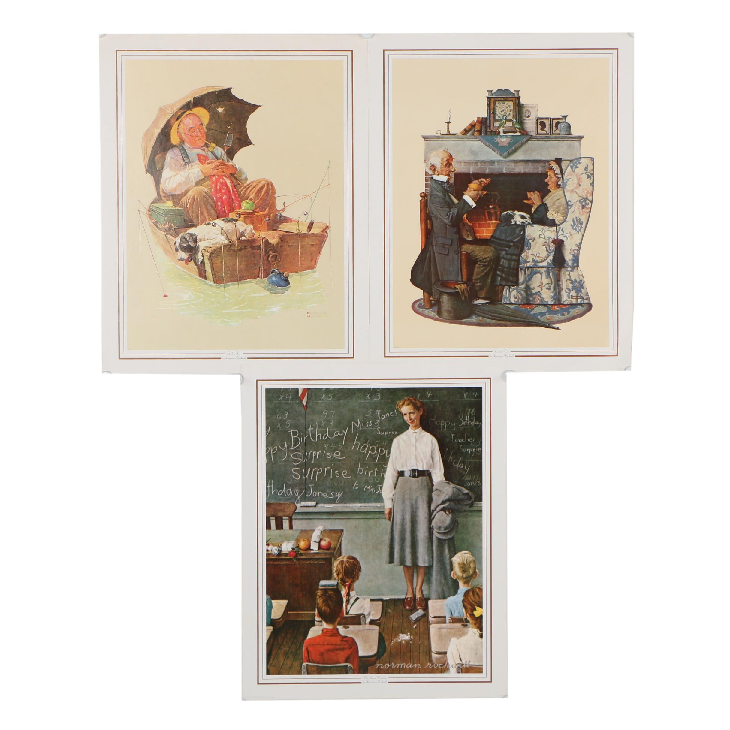 1973 Offset Lithographs after Norman Rockwell