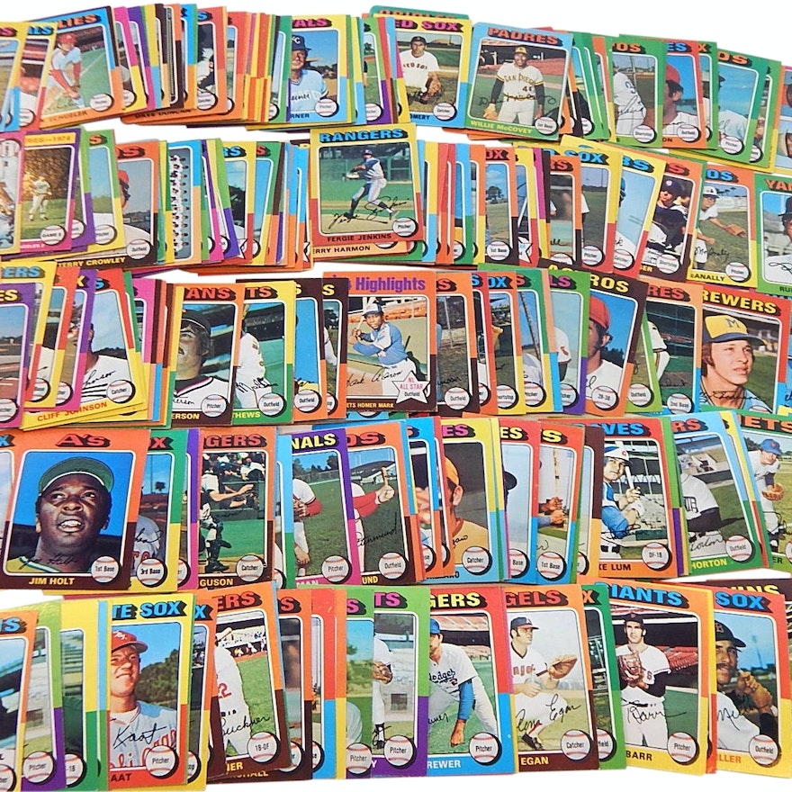 1975 Topps Baseball Card Collection With Munson Aaron Jenkins And More