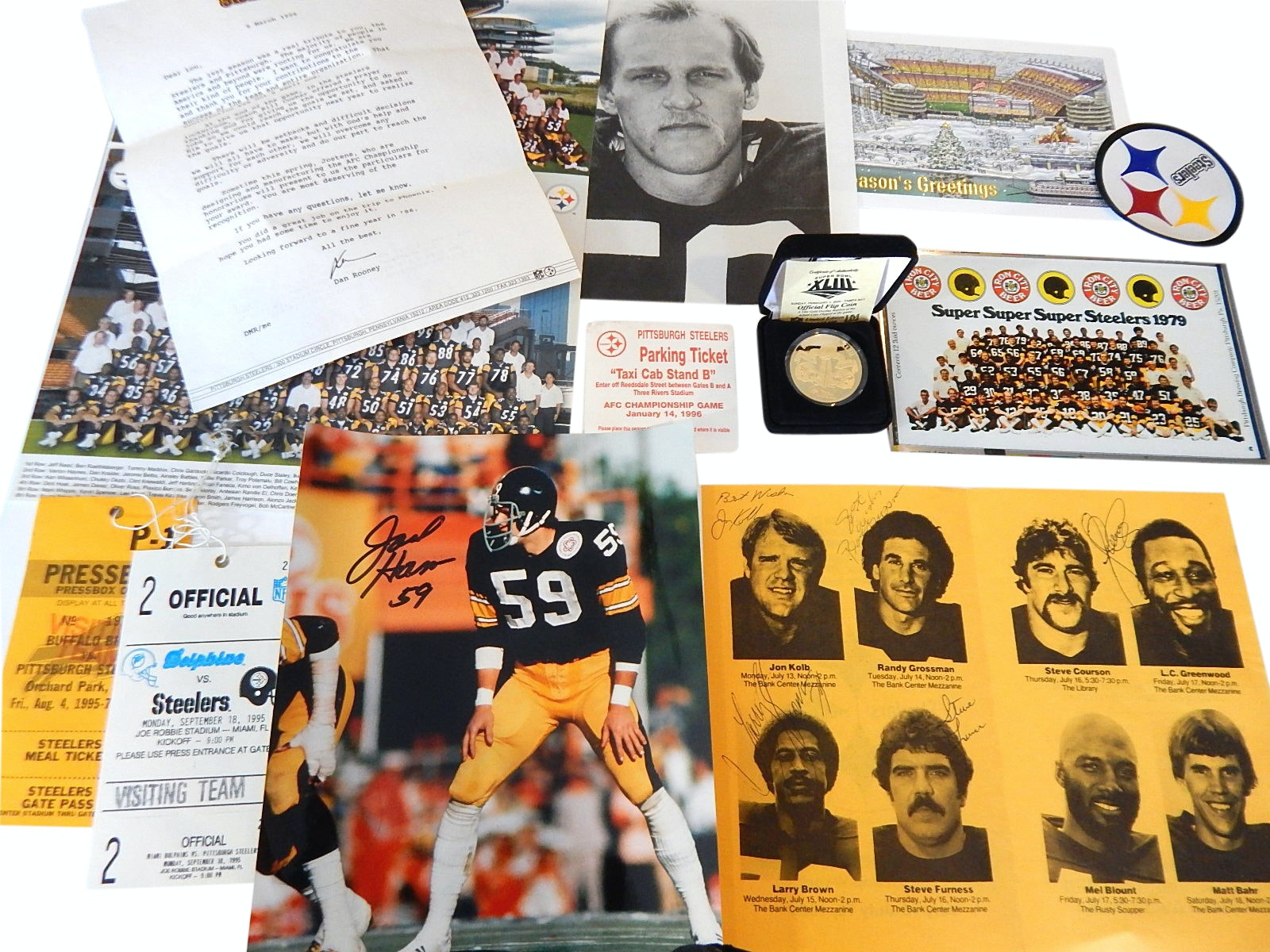 Pittsburgh Steelers Football Collectibles and Memorabilia