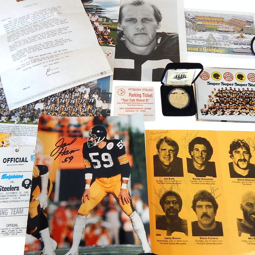 d79ad9fa91d Pittsburgh Steelers Football Collectibles and Memorabilia : EBTH