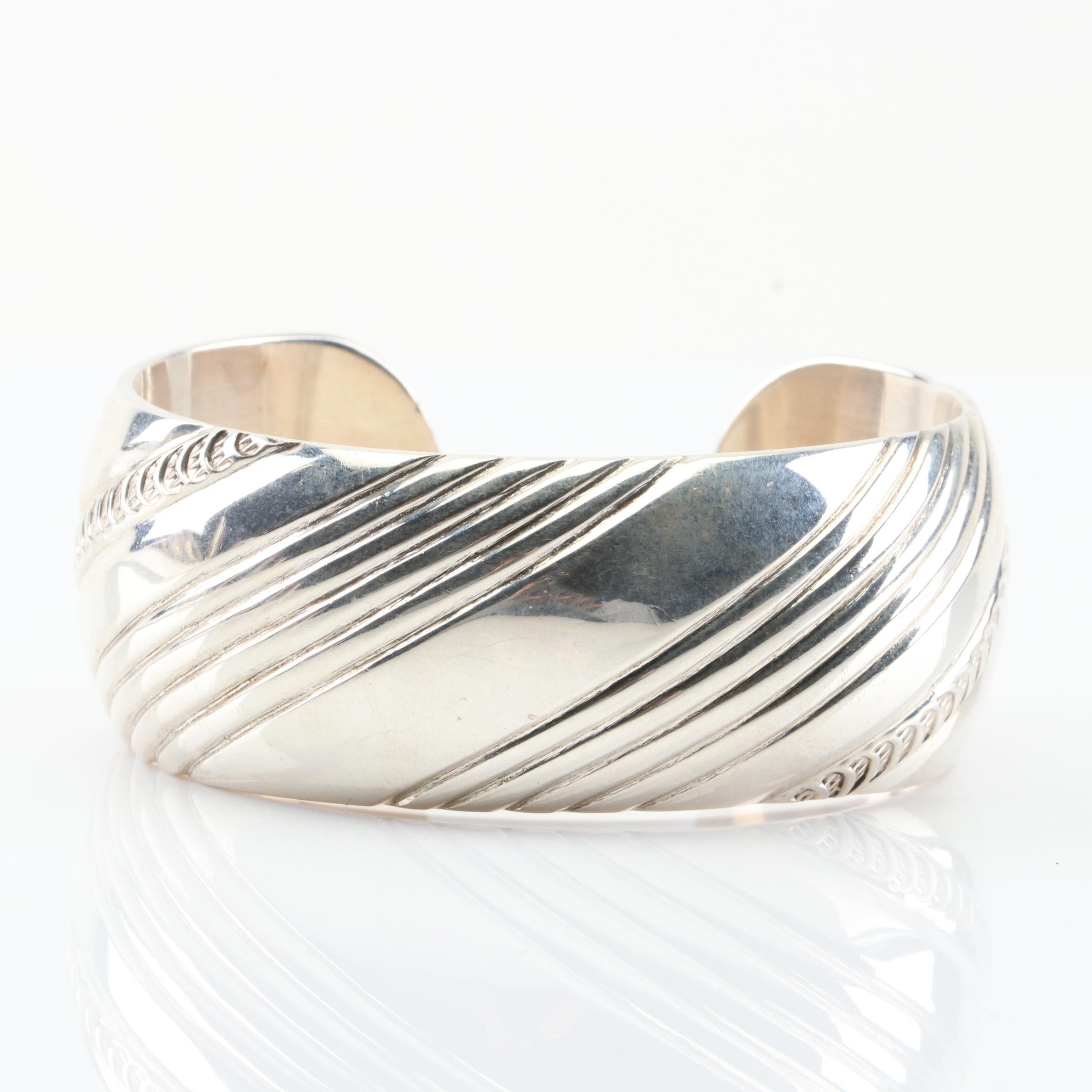 E. Bilagody Navajo Sterling Silver Cuff Bracelet