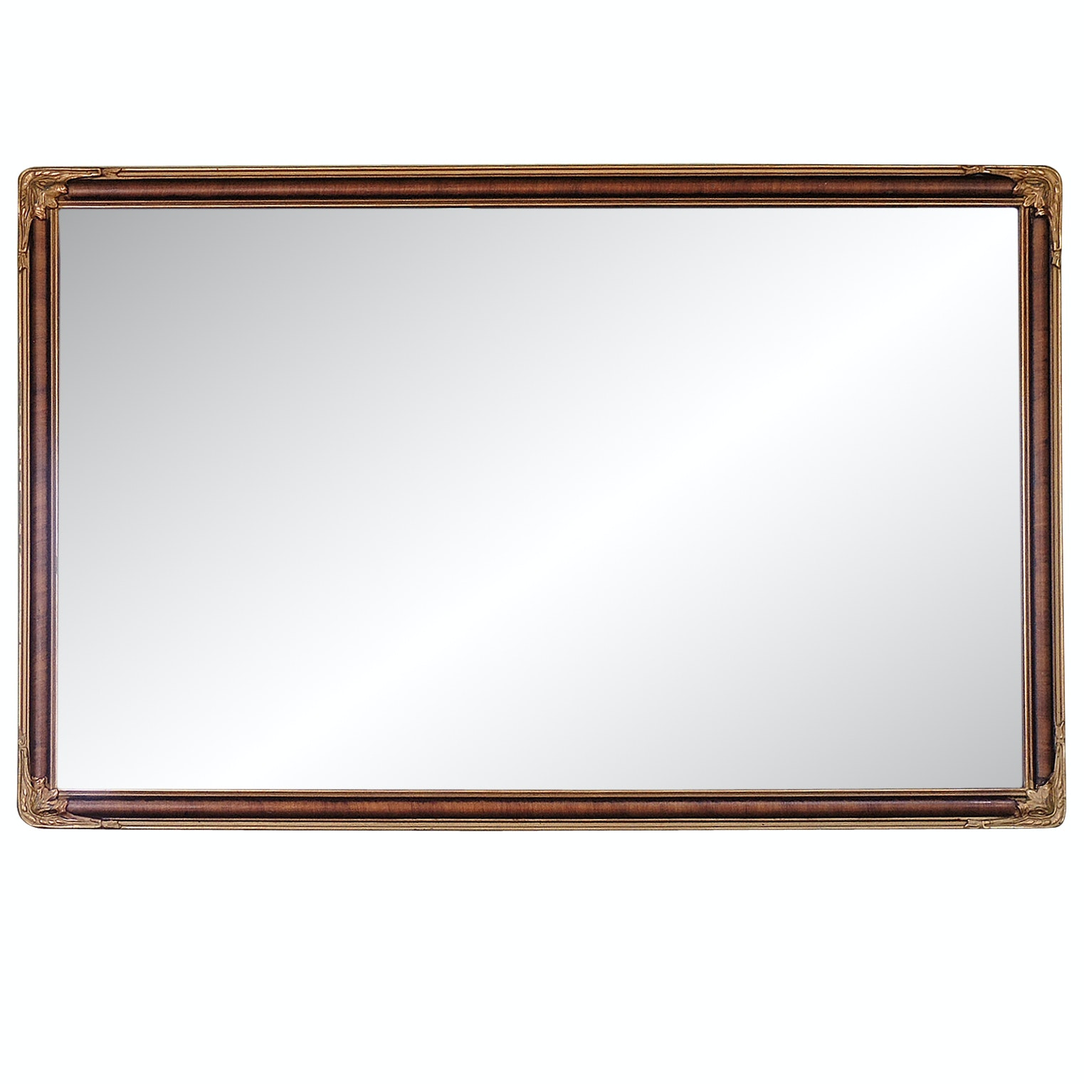 Faux Grain Painted Beveled Mirror