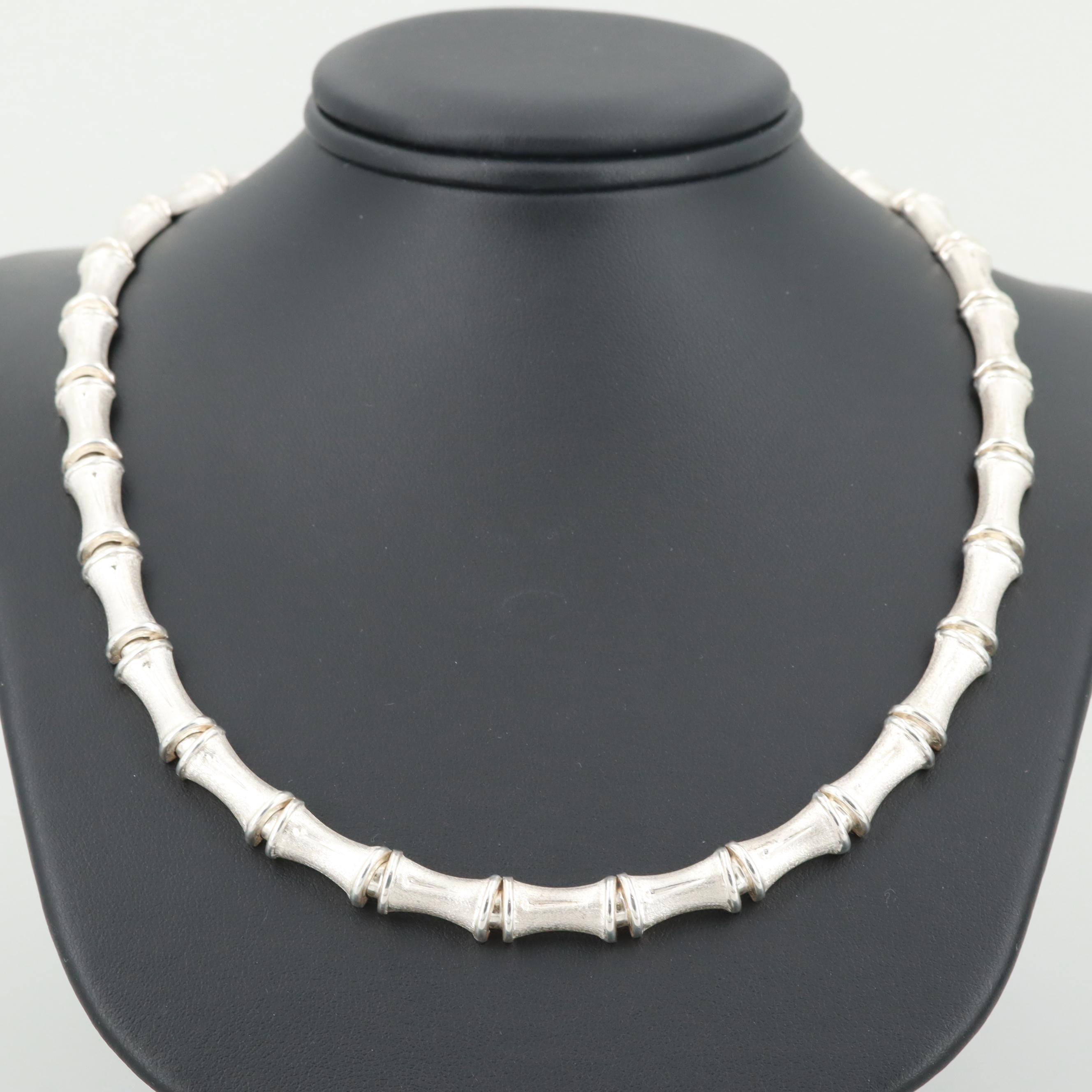 Sterling Silver Bar Custom Link Necklace