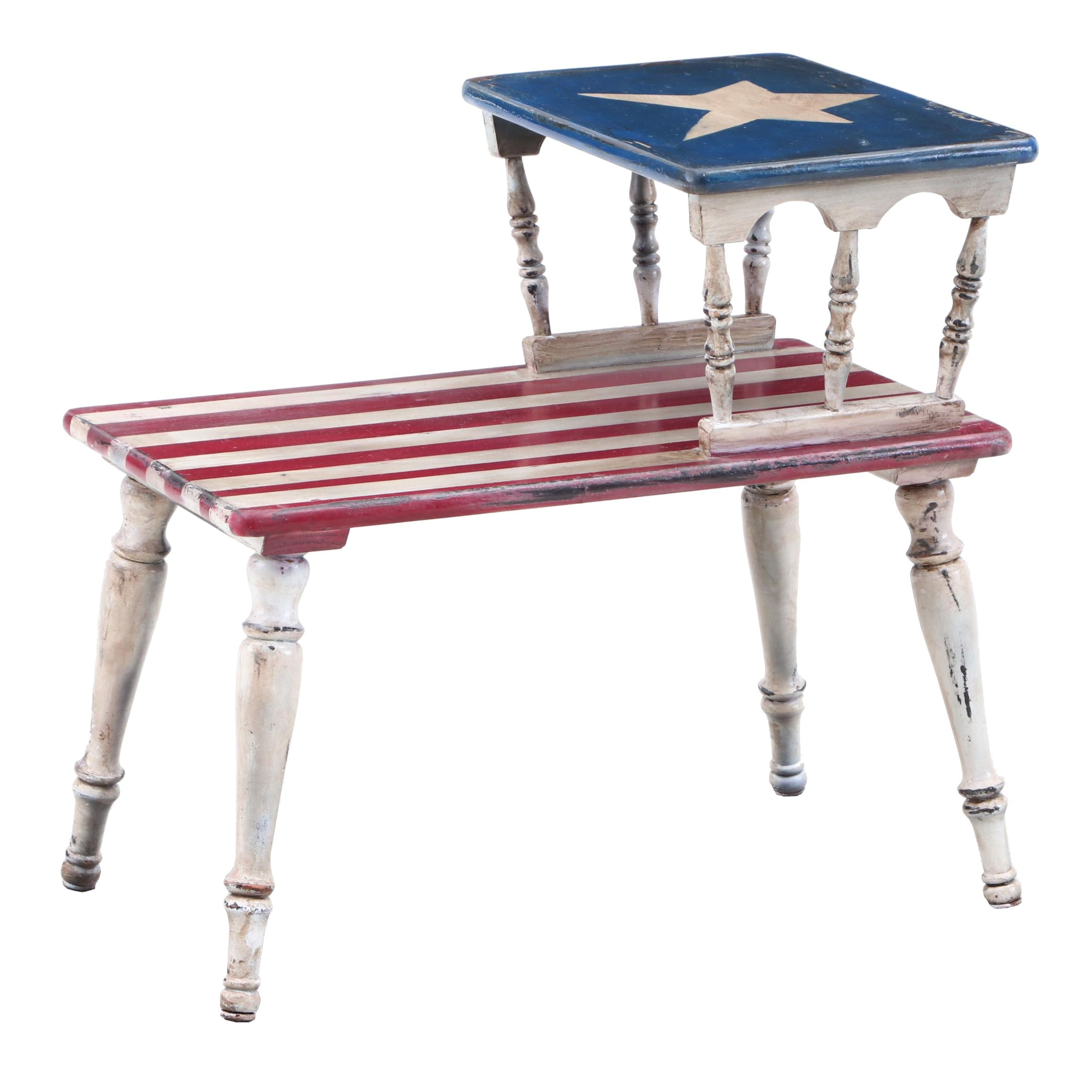 Americana Painted End Table