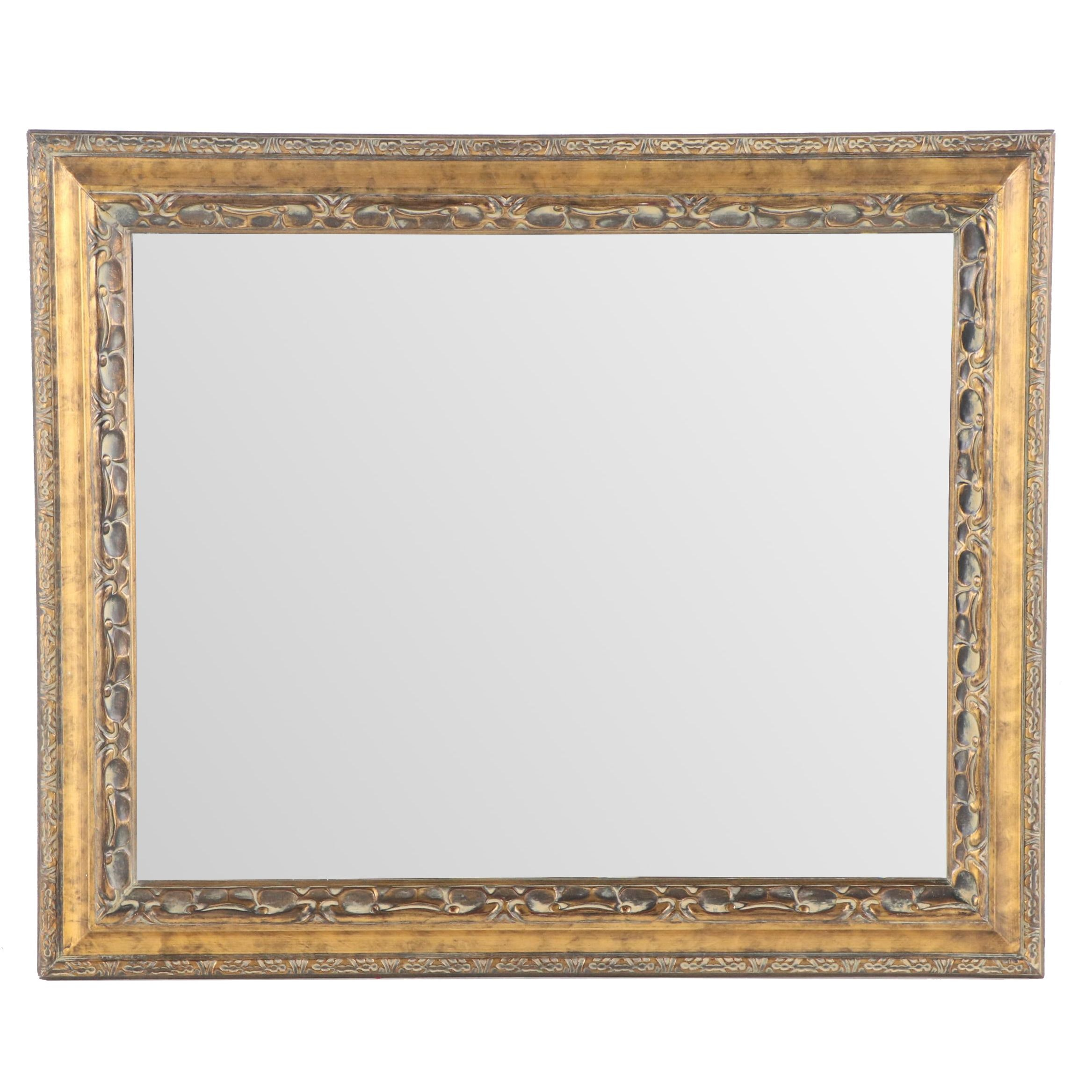 Contemporary Gold Painted Mirror