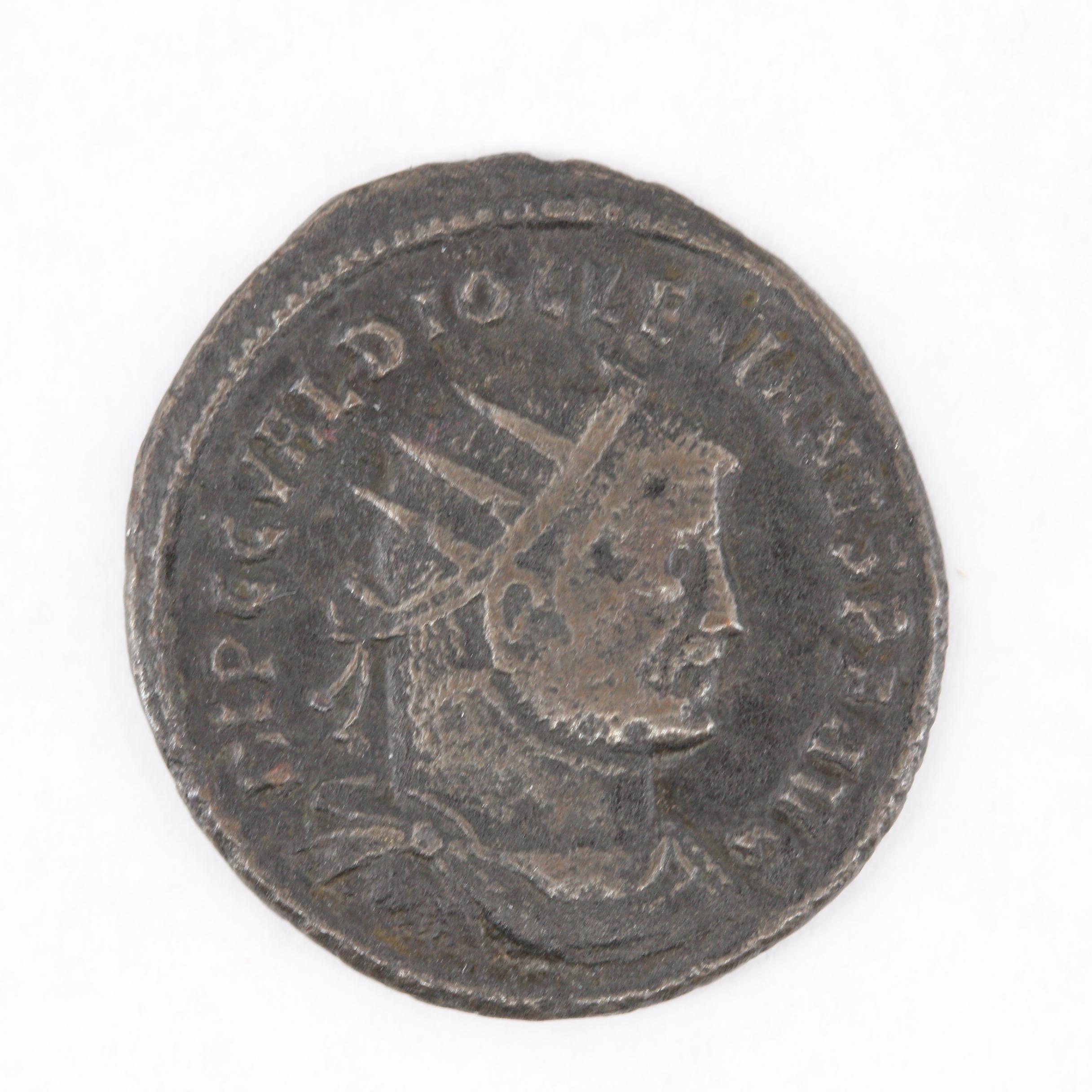 Ancient Roman Imperial Diocletian Bronze Follis, ca. 300 A.D.