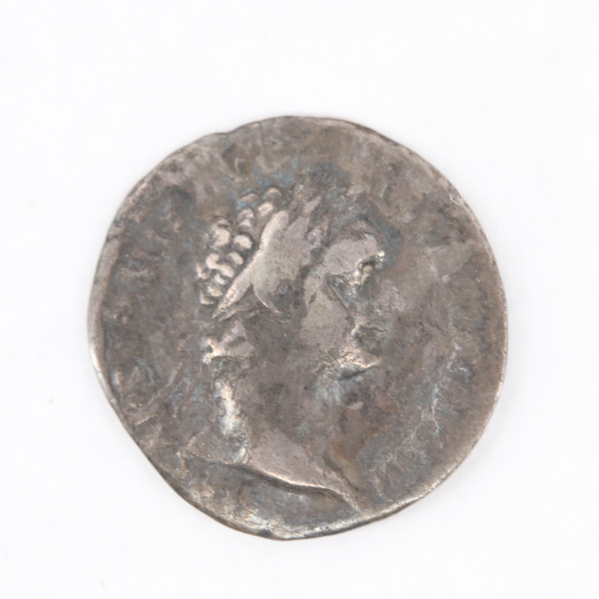 Ancient Roman Imperial Domitian AR Denarius, ca. 81 A.D.
