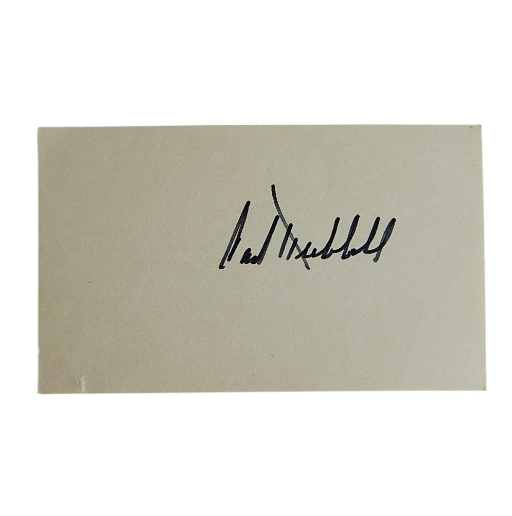 (HOF) Carl Hubbell Signed Index Card