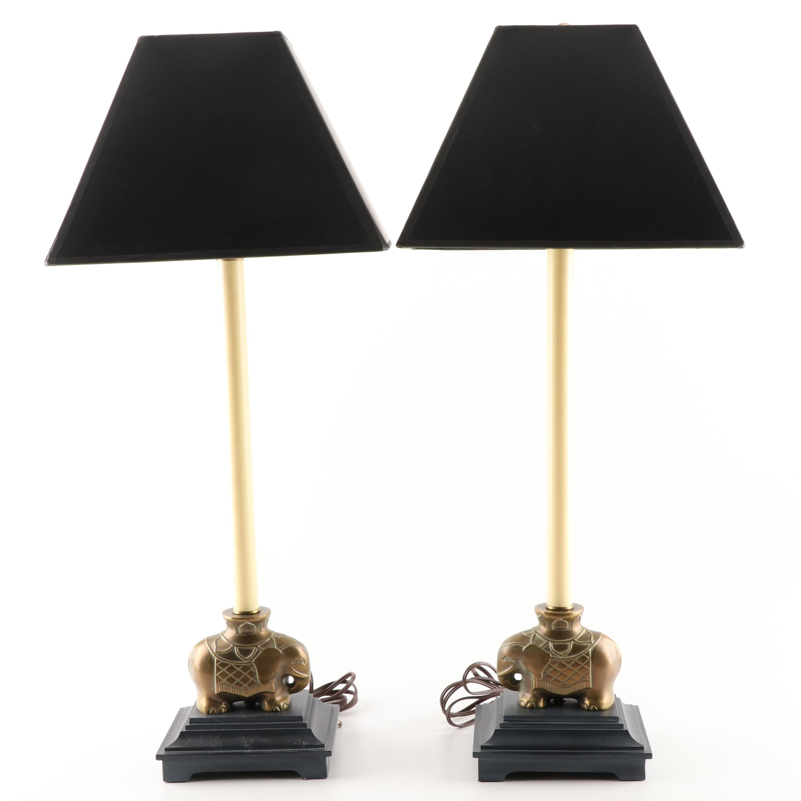 Brass Elephant Table Lamps