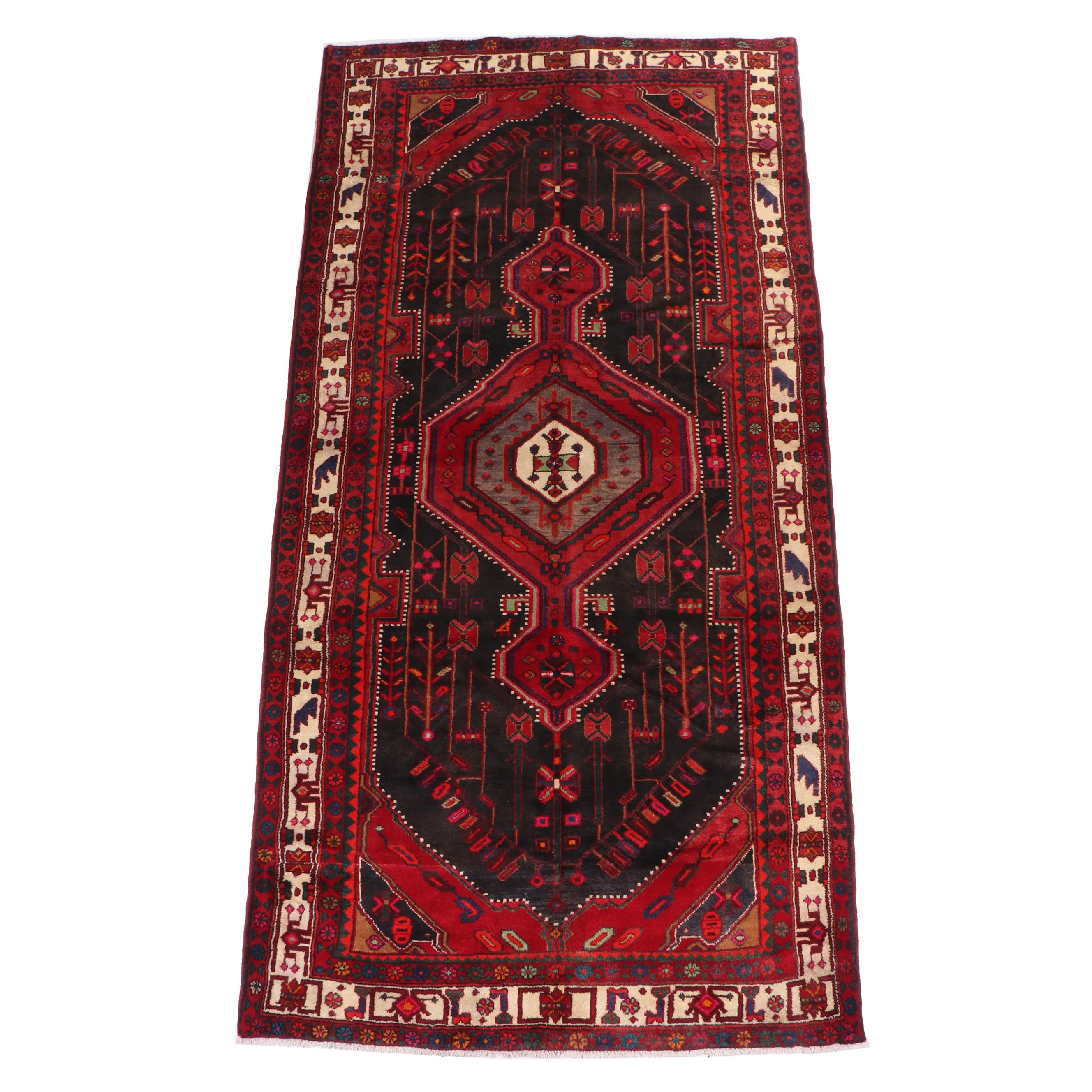 Hand-Knotted Kurdish Bijar Wool Rug