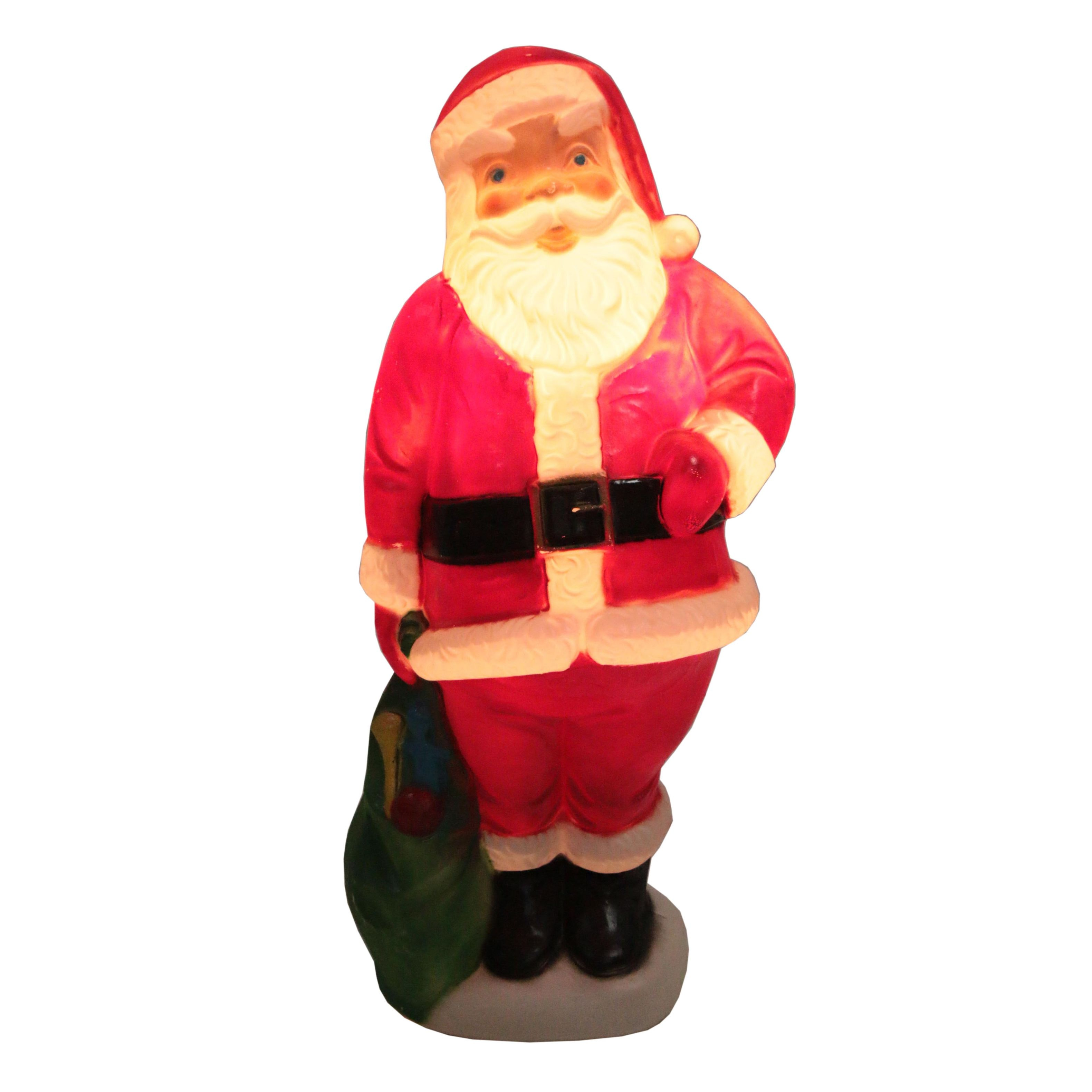 Blow-Mold Plastic Illuminated Santa Claus Outdoor Decoration, 2004