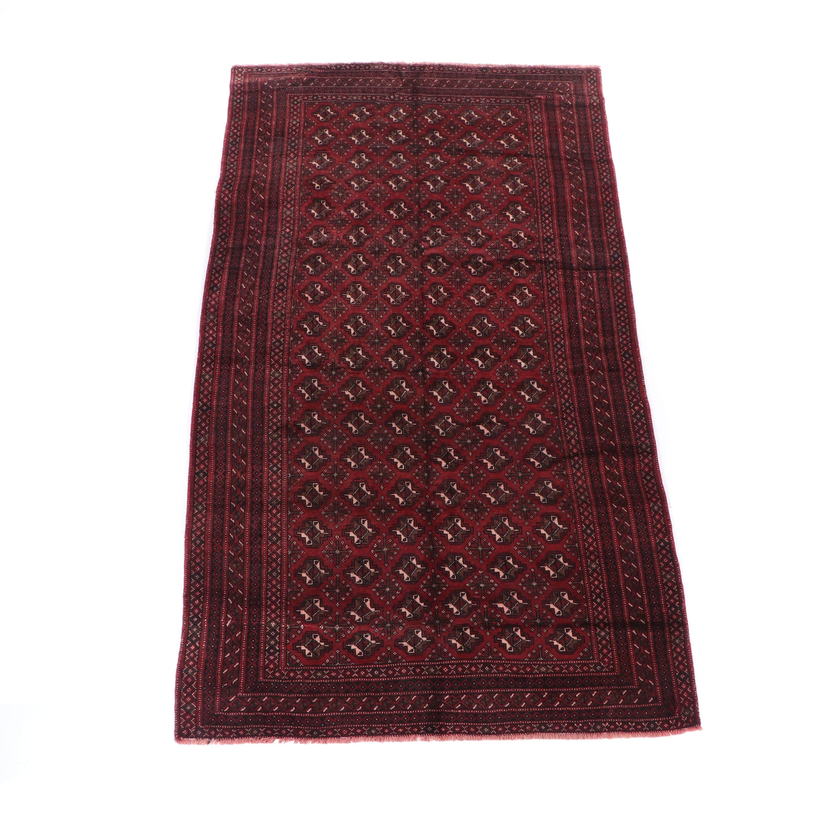 Hand-Knotted Bokhara Wool Rug