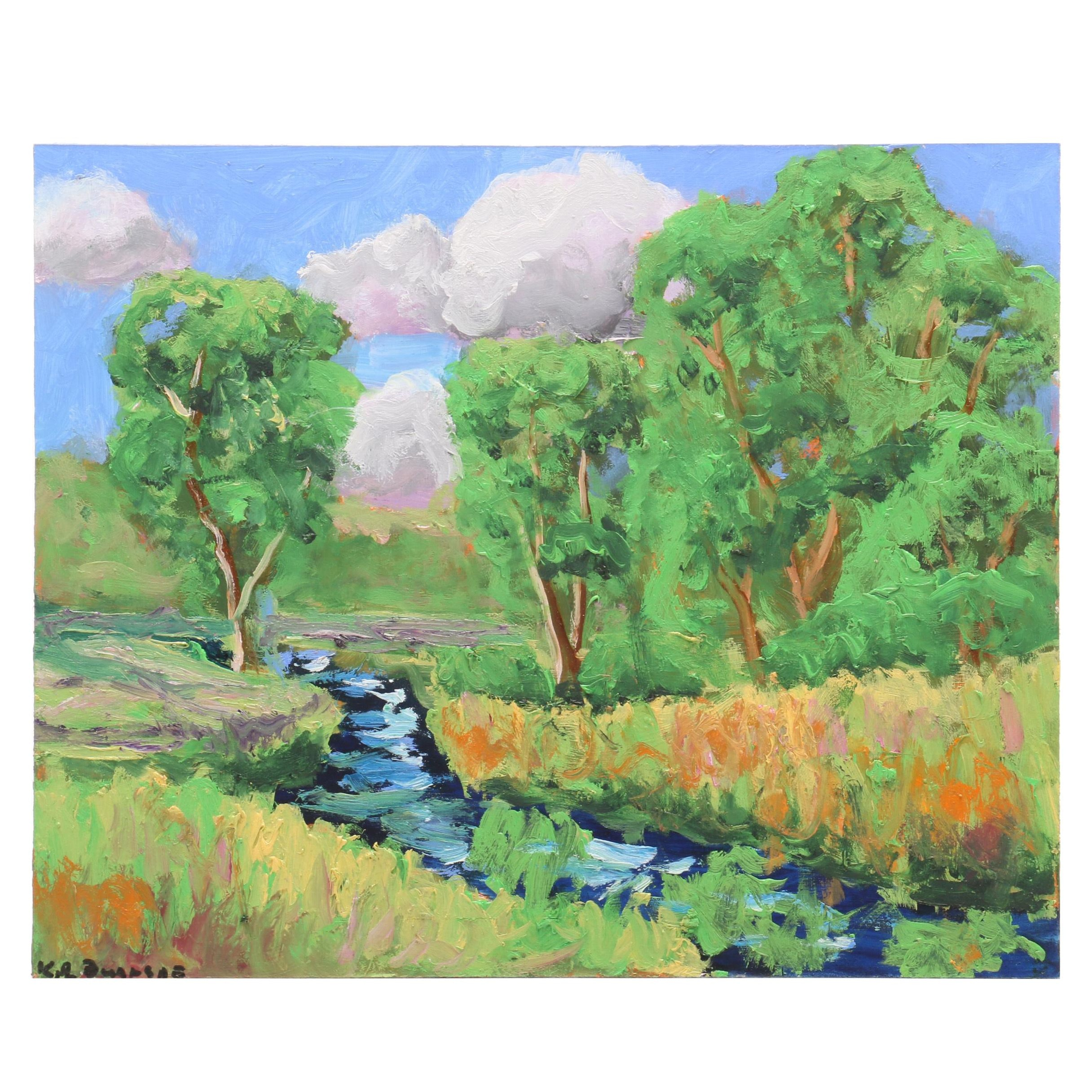 Kenneth Burnside Landscape Oil Painting