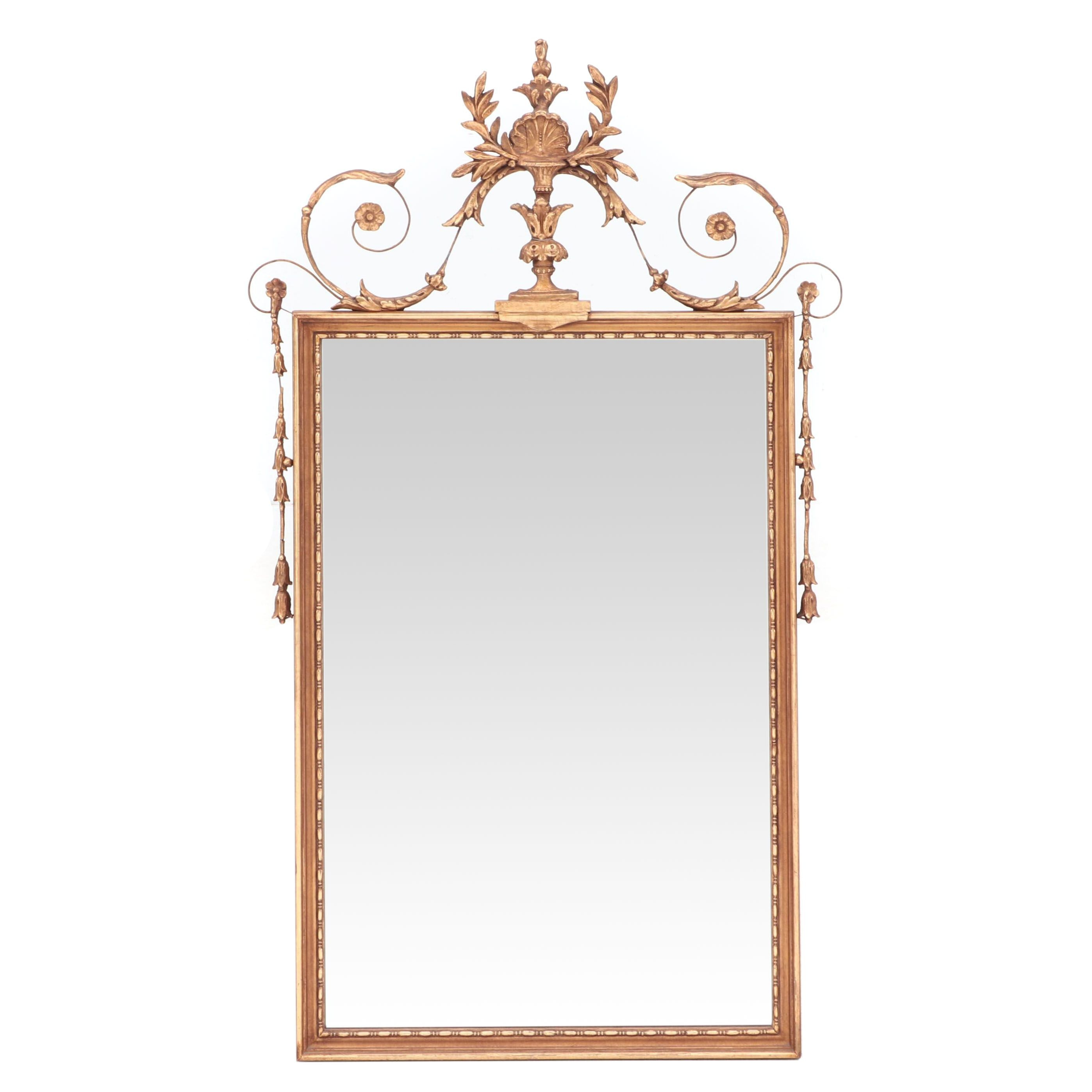 Empire Style Gilt Finish Wall Mirror