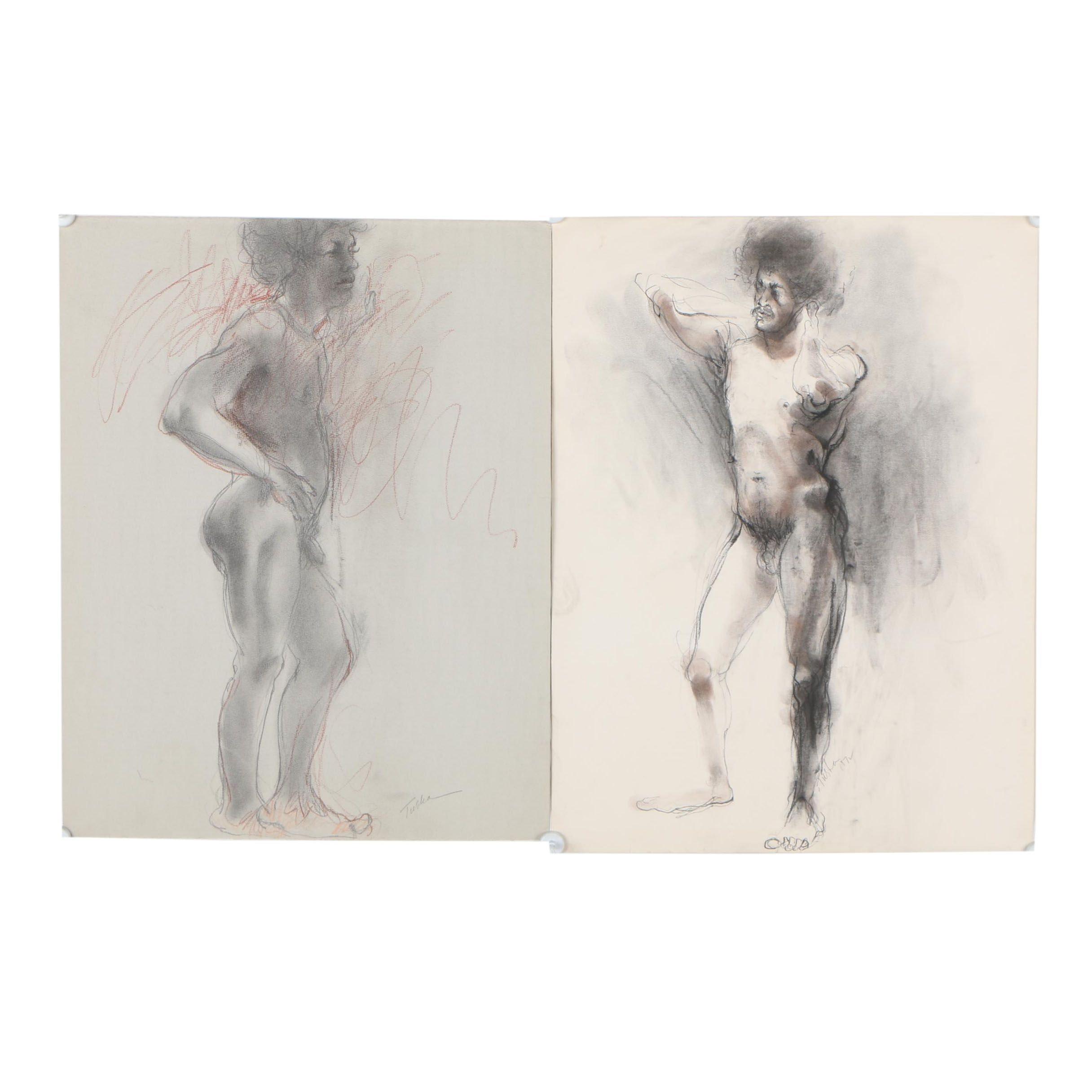 John Tuska Figural Charcoal Drawings