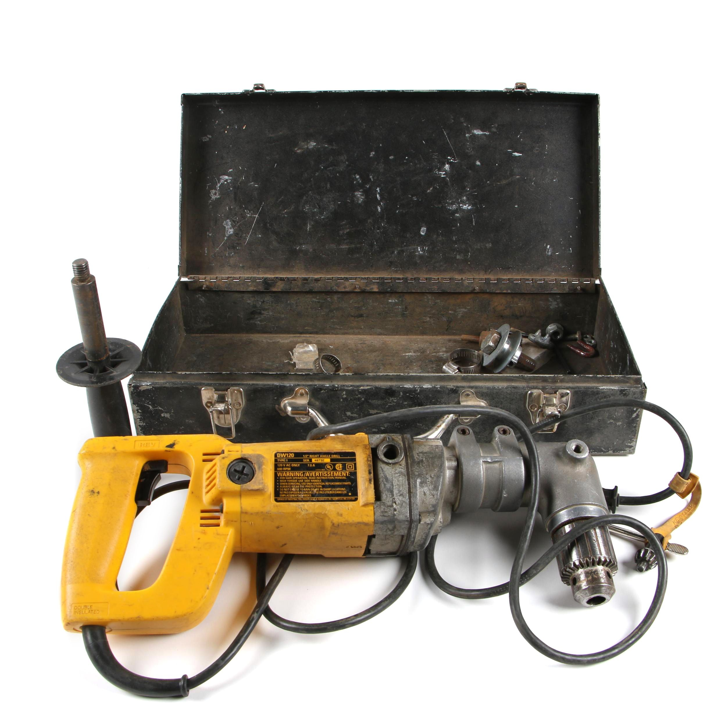 """DeWalt 1/2"""" Right Angle Drill with Case"""