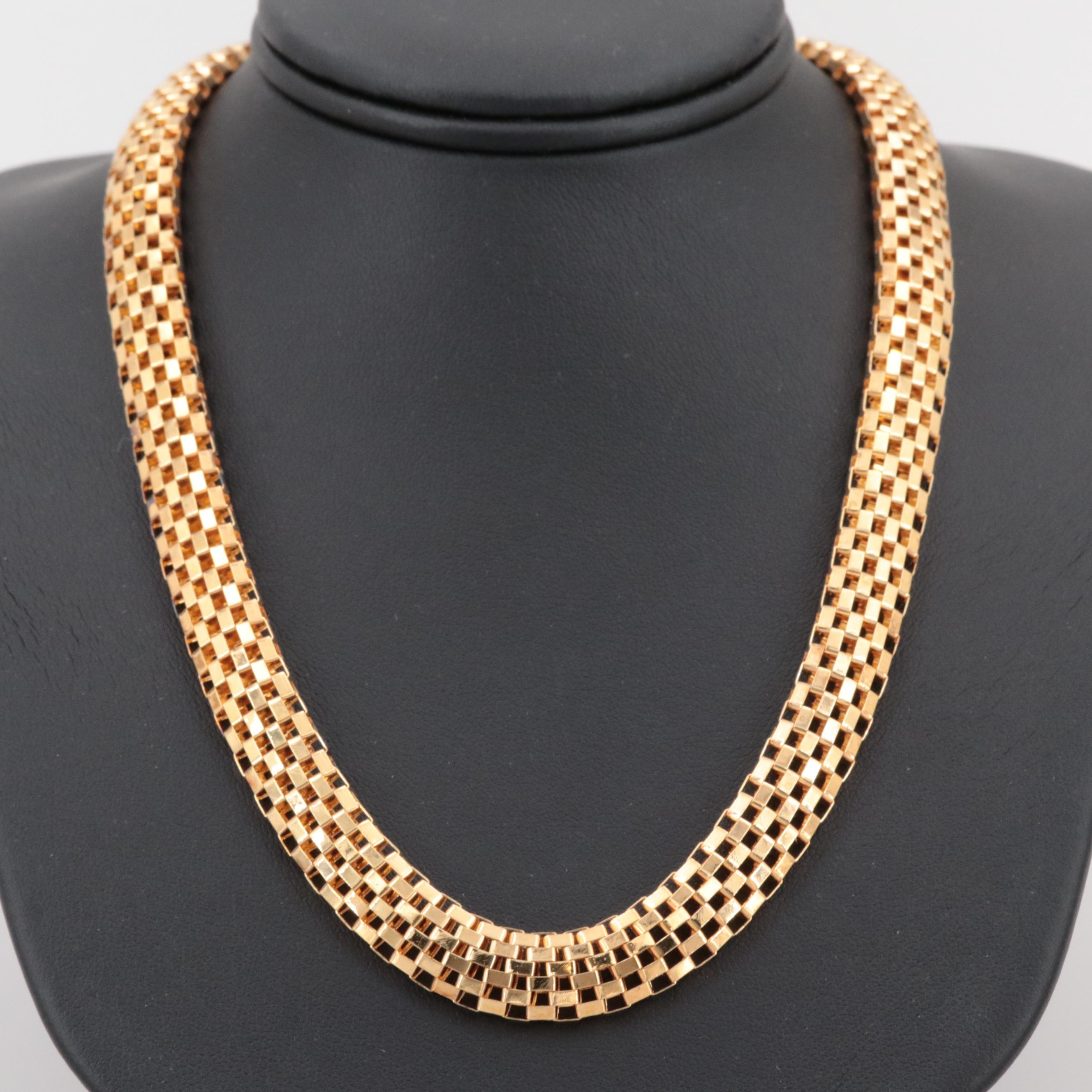 Gold Wash on Sterling Silver Necklace