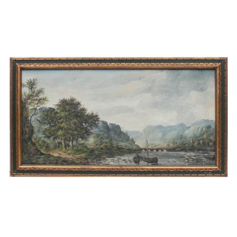 Landwehr Sr. Landscape Oil Painting