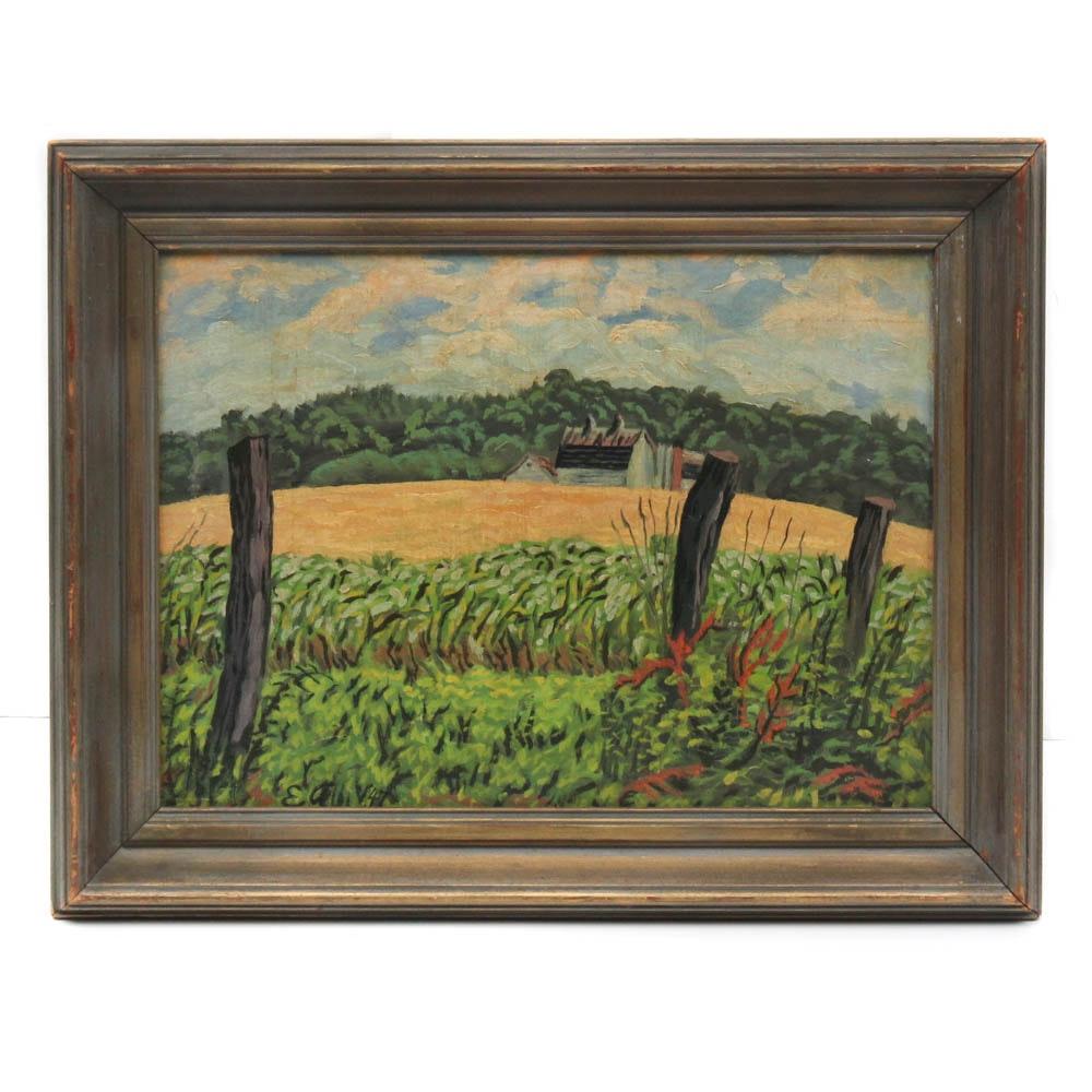 1947 Landscape Oil Painting