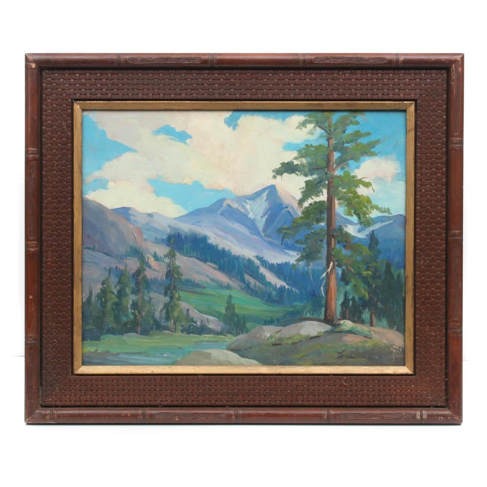 """Sherrie Landscape Oil Painting """"Leavitt Meadows"""""""