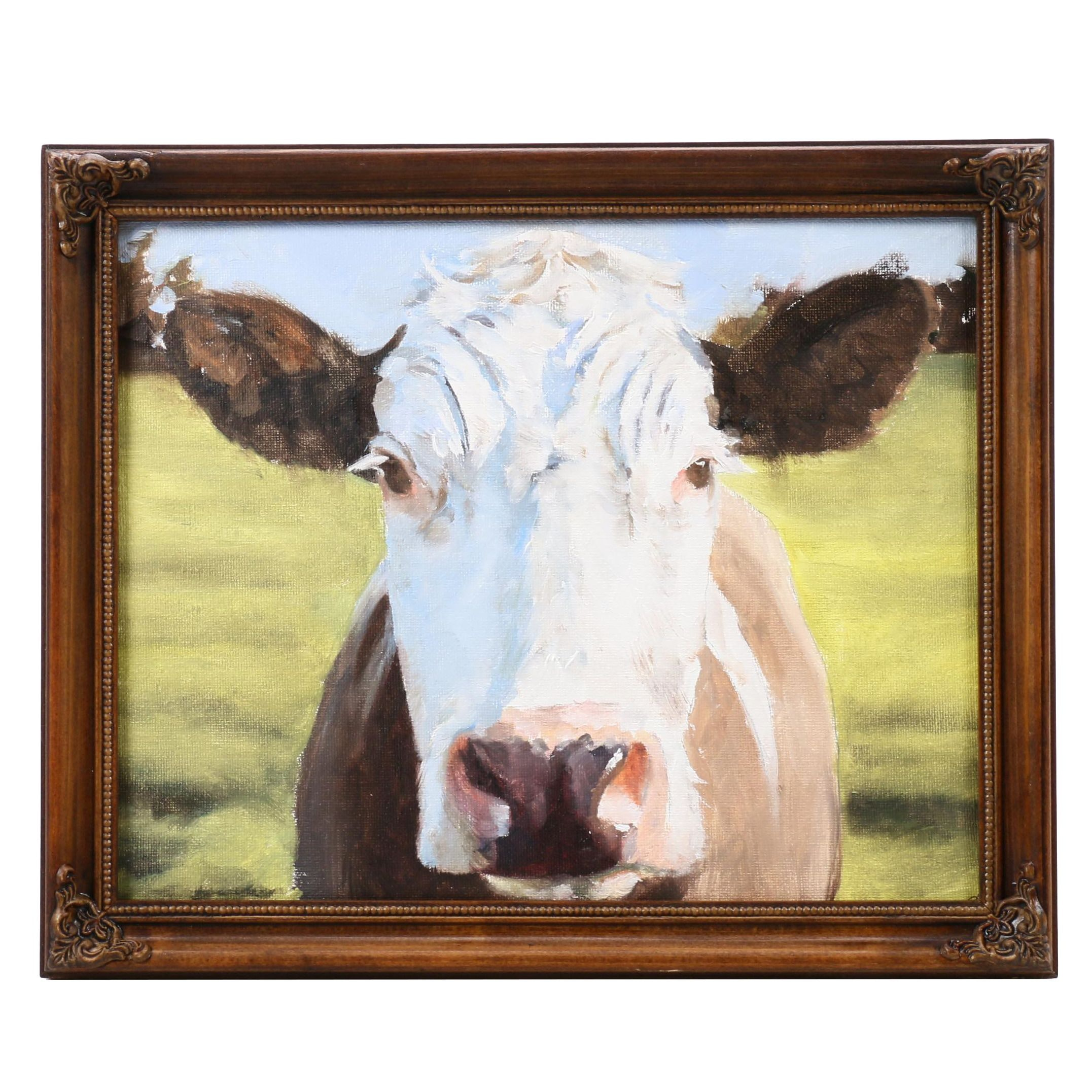 "James Coats Oil Painting ""Cow"""