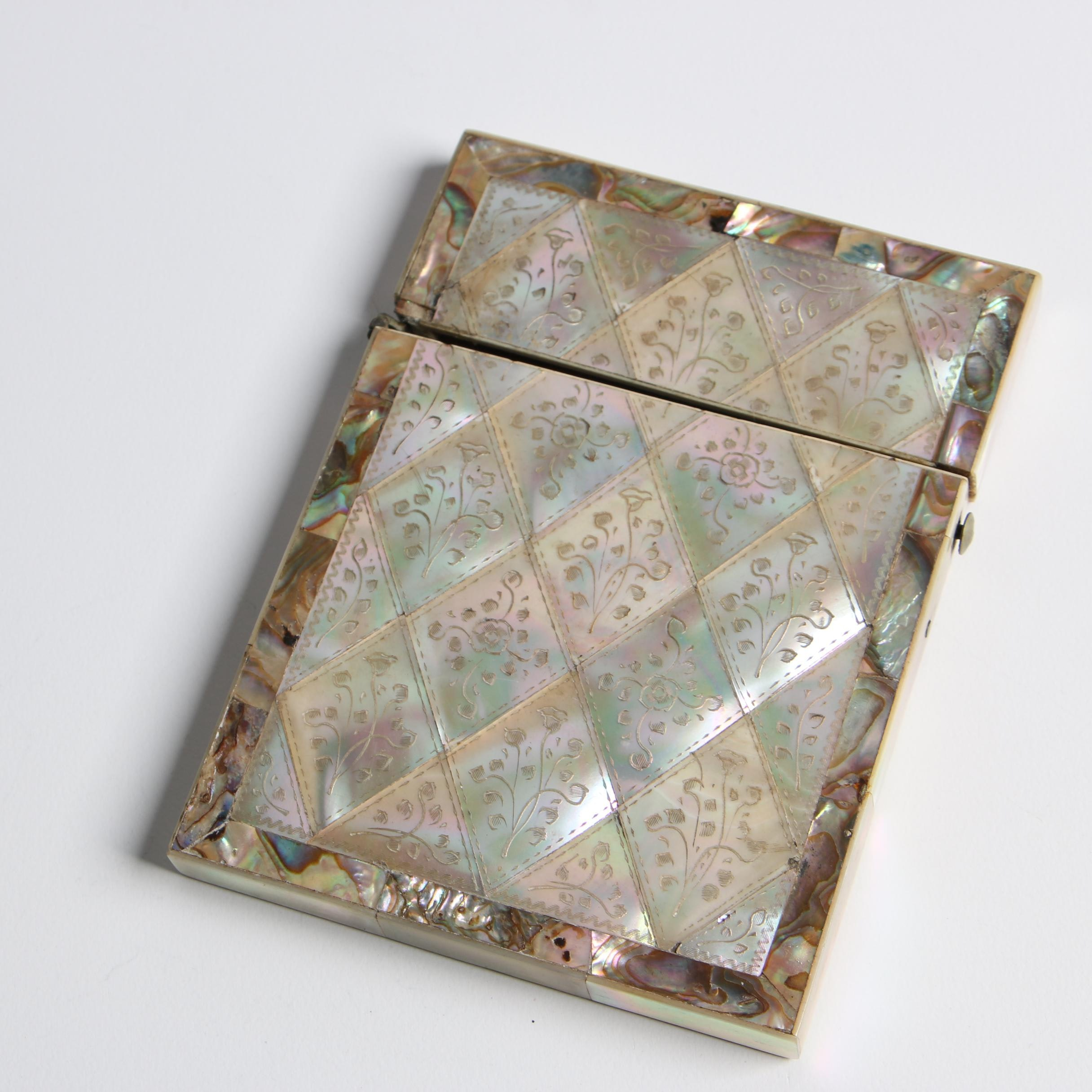 Mother of Pearl and Abalone Card Case, Late 19th Century