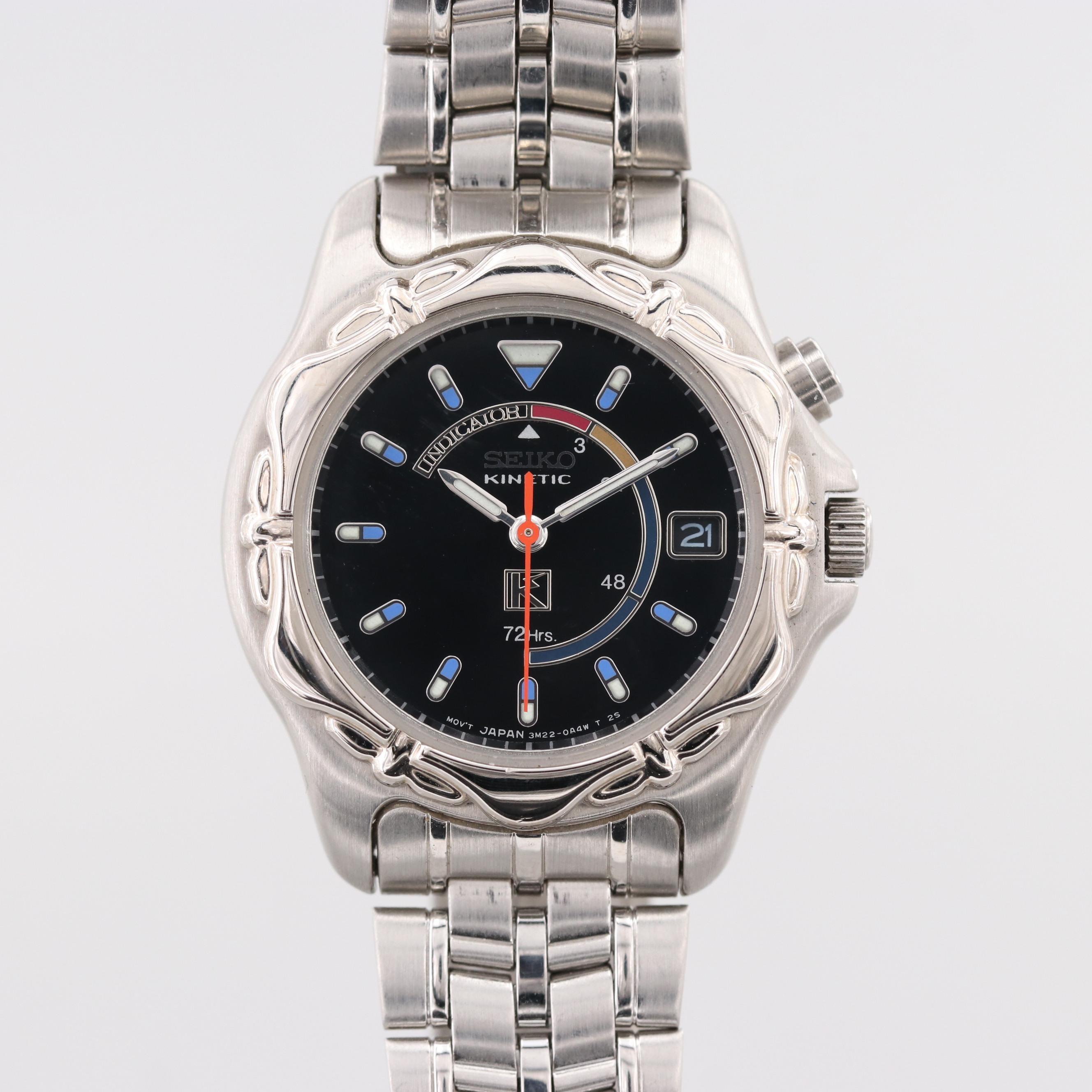 Vintage Seiko Kinetic Power Reserve Wristwatch