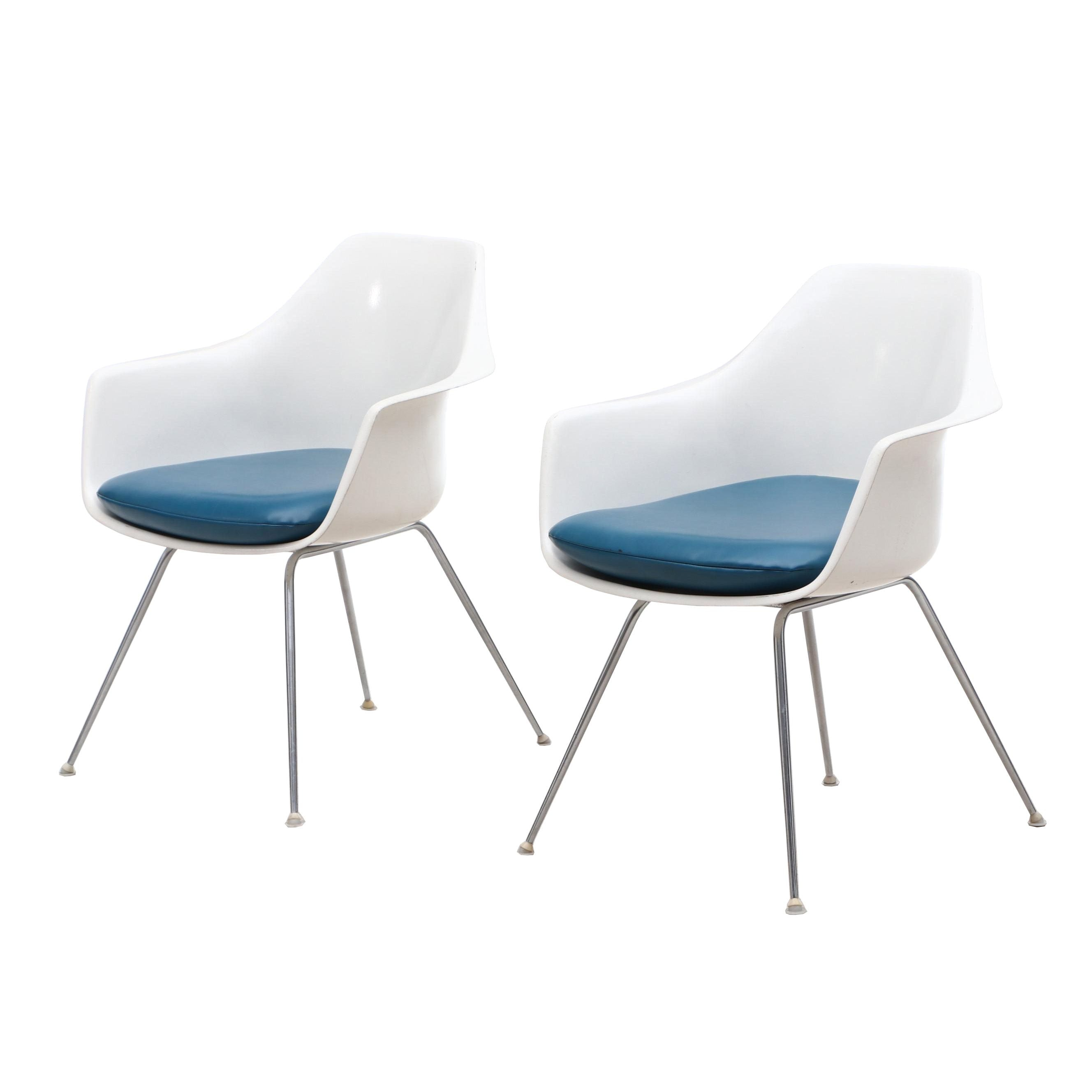 Eames Style Tulip Arm Chairs by Burke Furniture