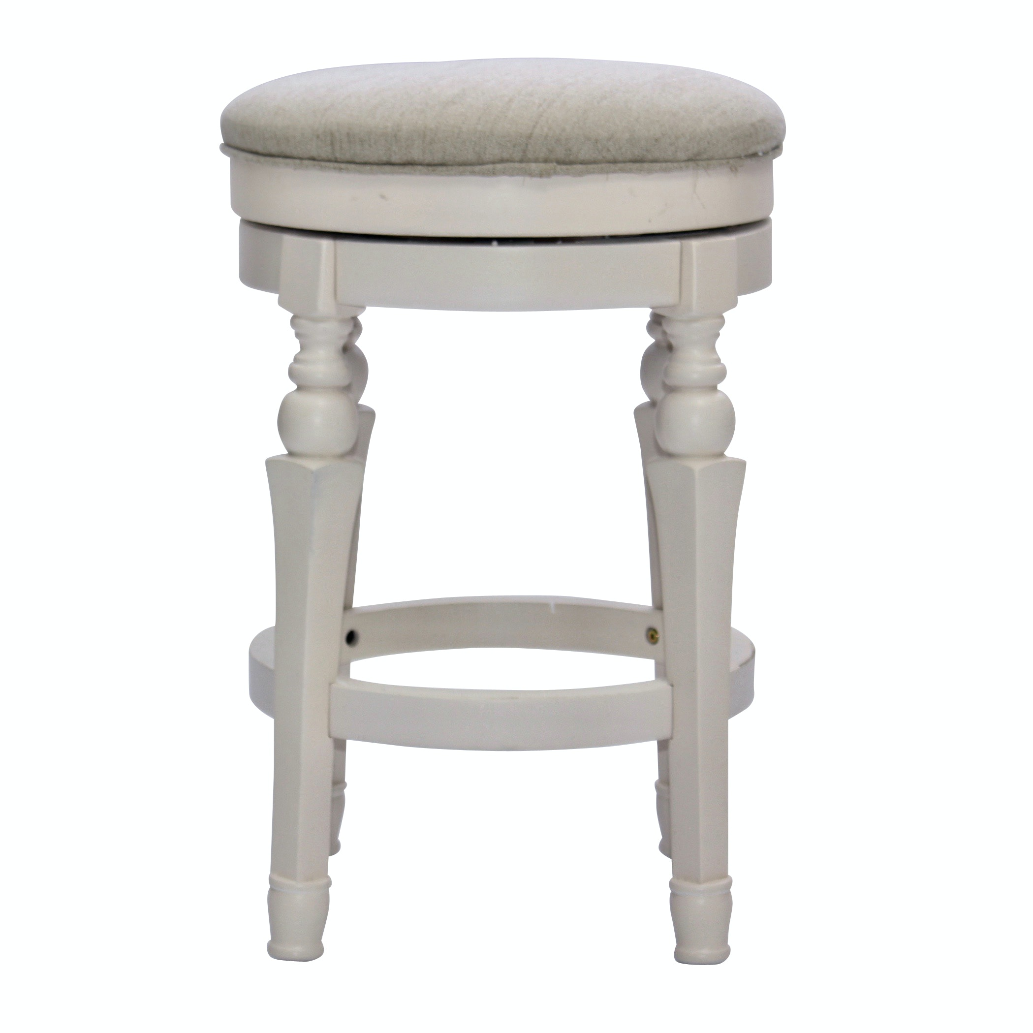 Upholstered Swivel Vanity Stool, Contemporary