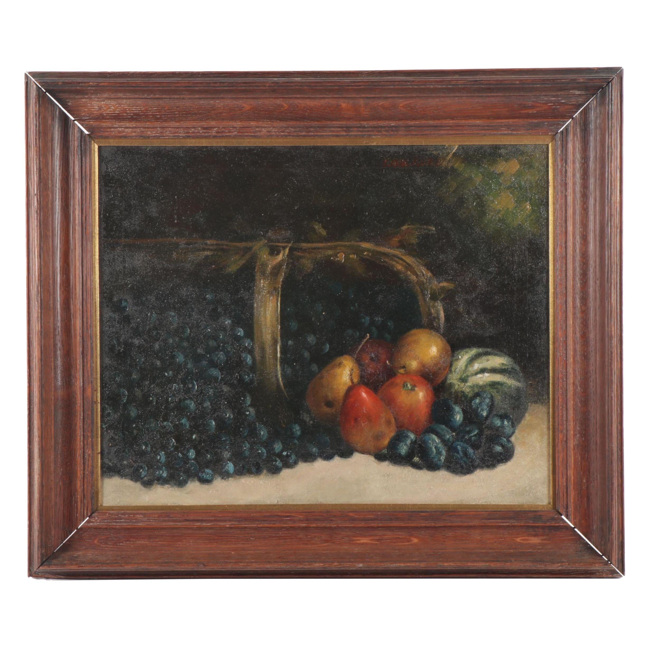 Louis Kurz Still Life Oil Painting