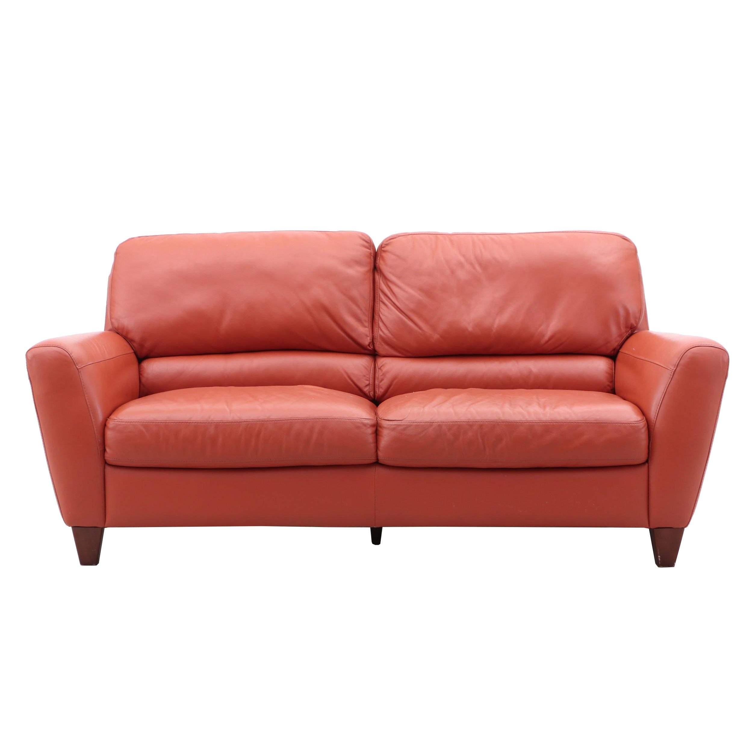 Modernist Leather Sofa by Italsofa Bahia